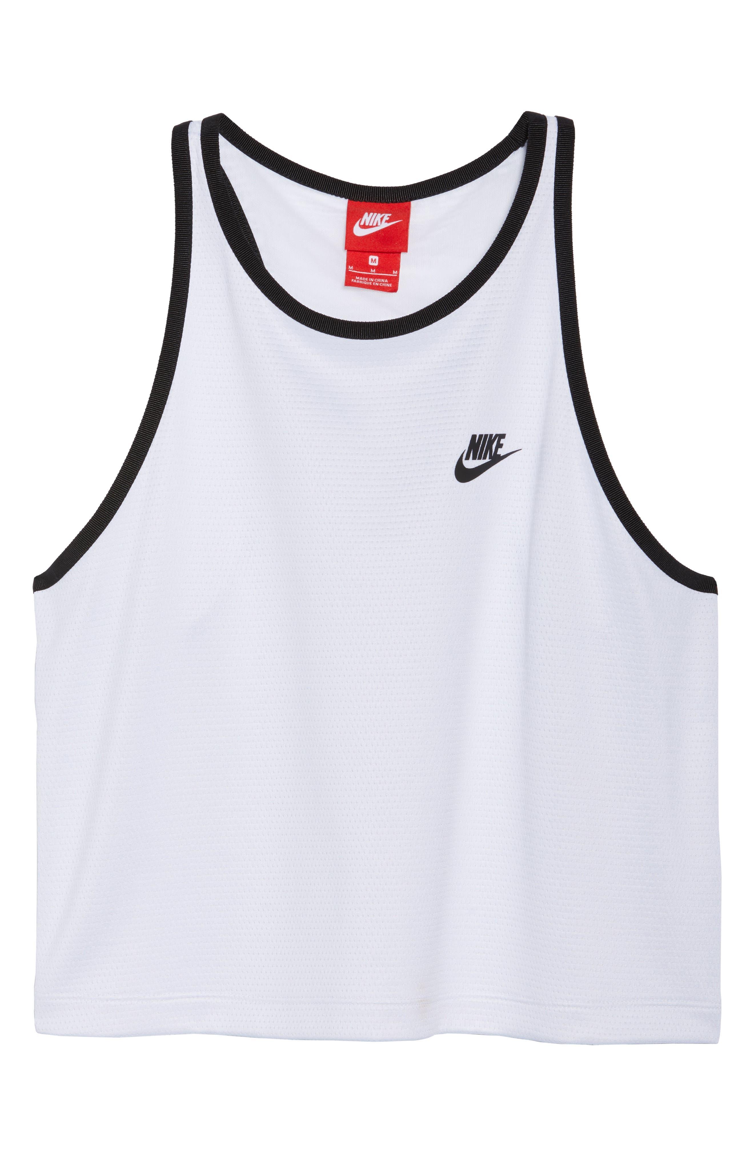 Sportswear Teched Out Tank,                             Alternate thumbnail 7, color,                             White/ Black