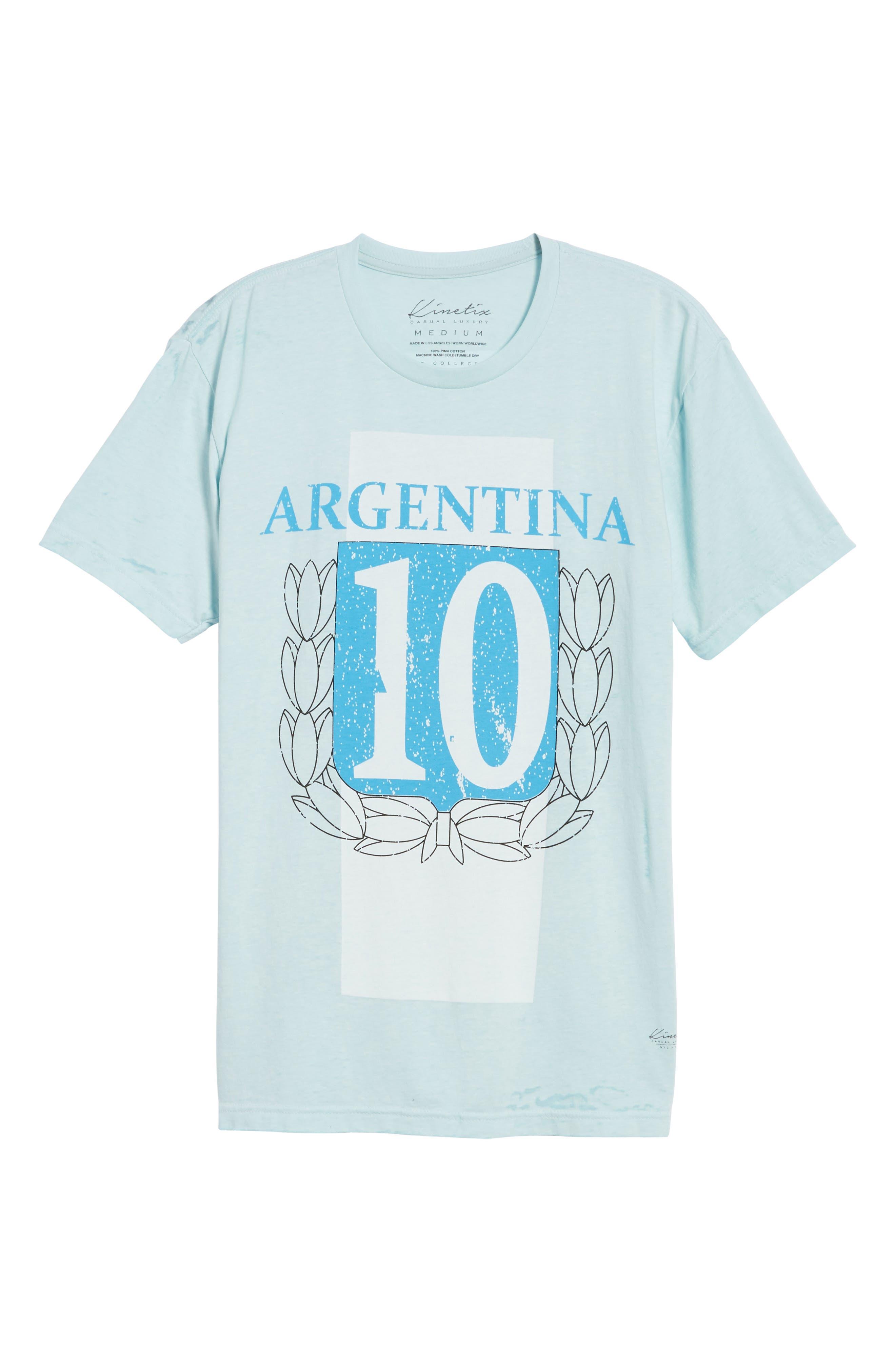 Kintetix Argentina T-Shirt,                             Alternate thumbnail 6, color,                             Sky Blue