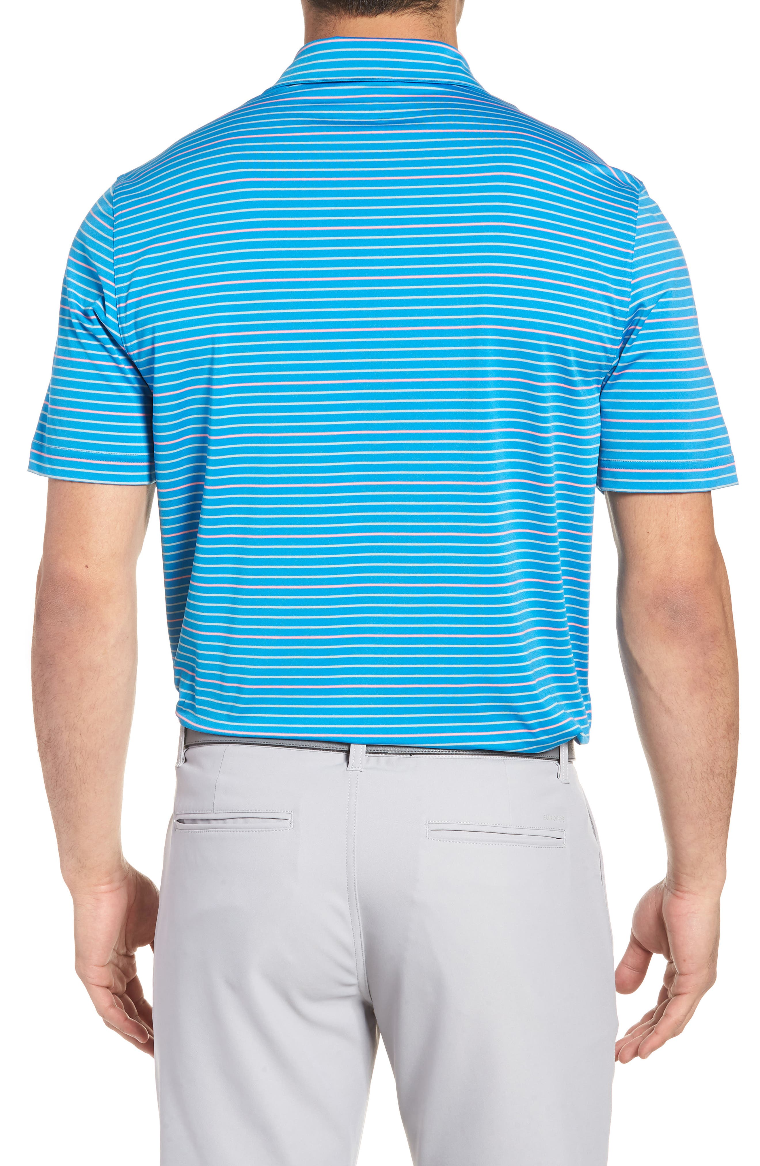 Swindell Stretch Stripe Polo,                             Alternate thumbnail 2, color,                             Dark Cerulean