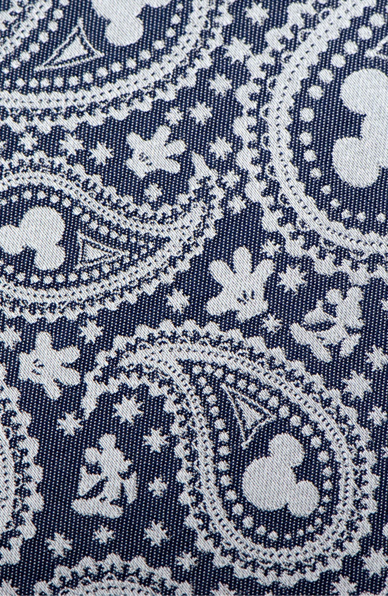 Mickey Mouse Paisley Silk Tie,                             Alternate thumbnail 3, color,                             Blue/ Grey