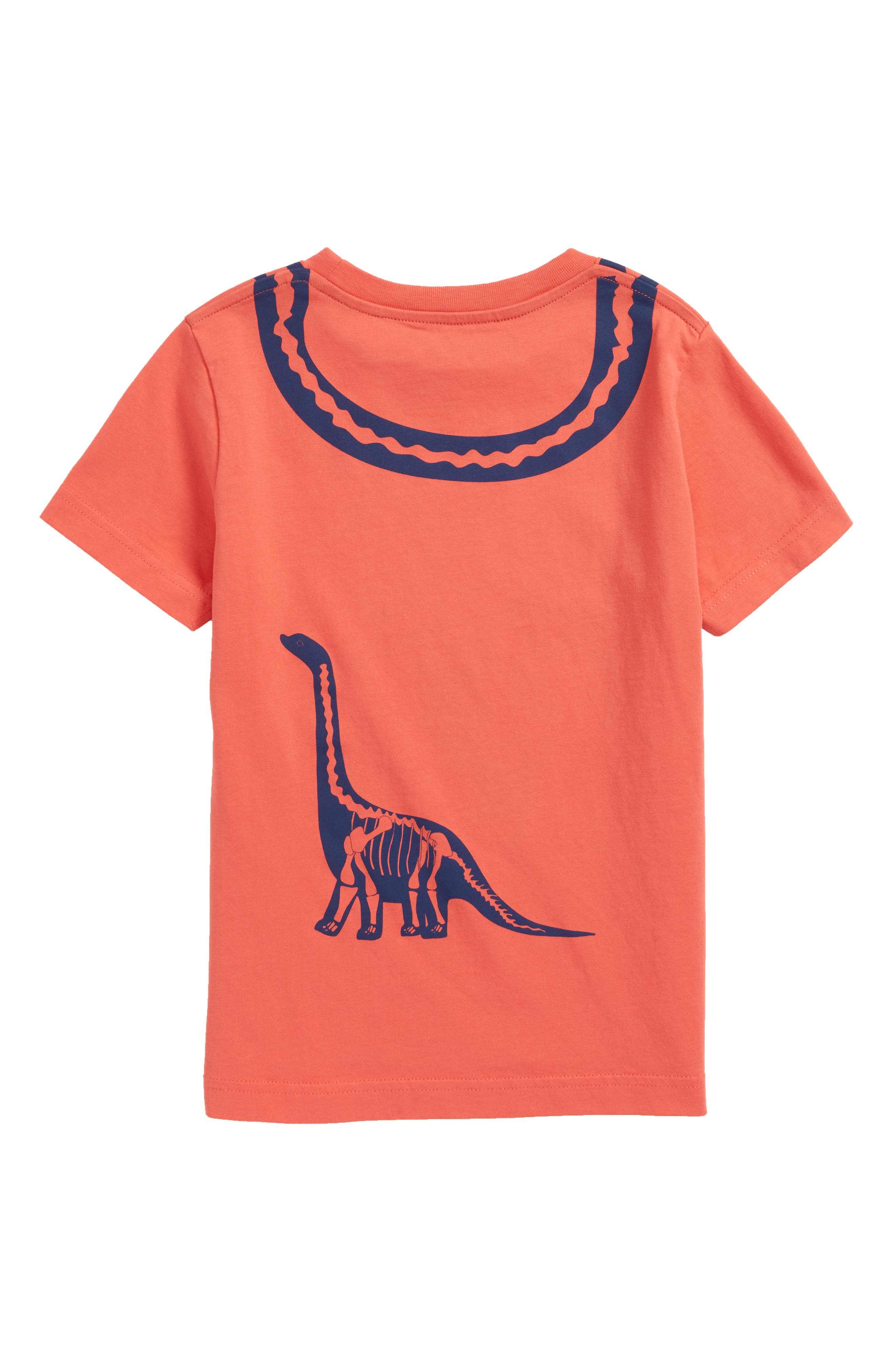 Wraparound Dinosaur Graphic T-Shirt,                             Alternate thumbnail 2, color,                             Jam Red Diploduocus