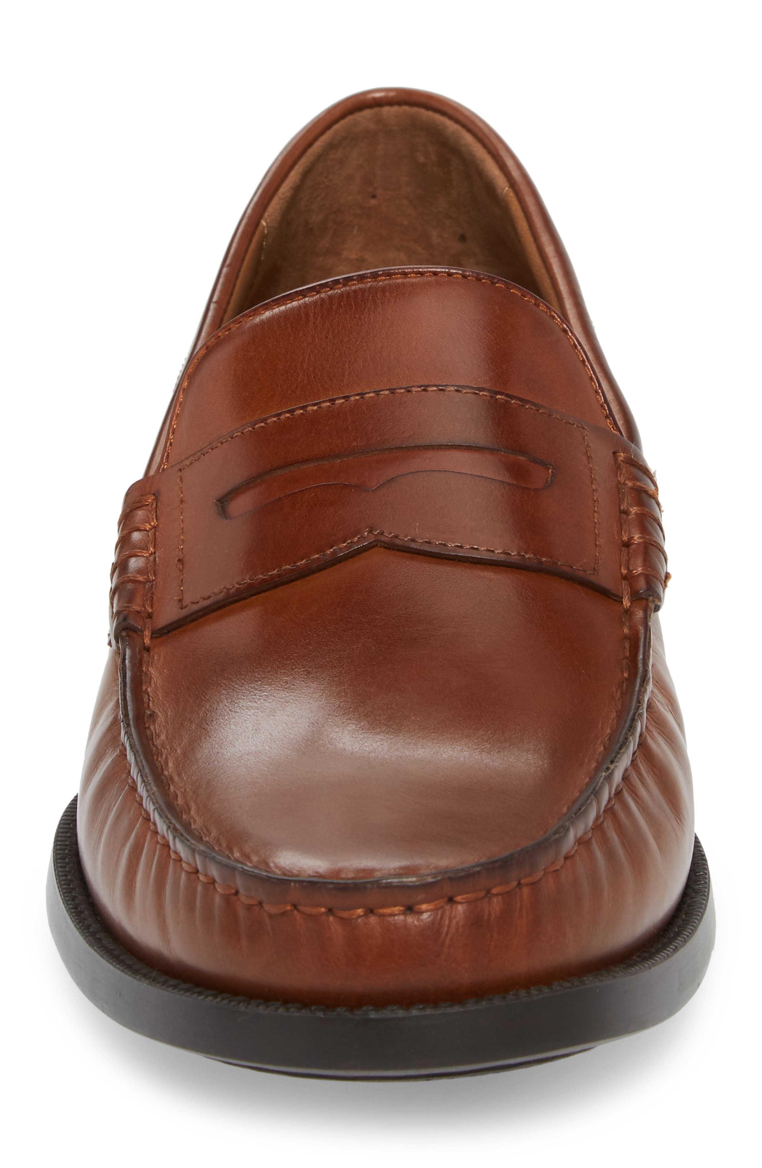Chadwell Penny Loafer,                             Alternate thumbnail 4, color,                             Tan Leather