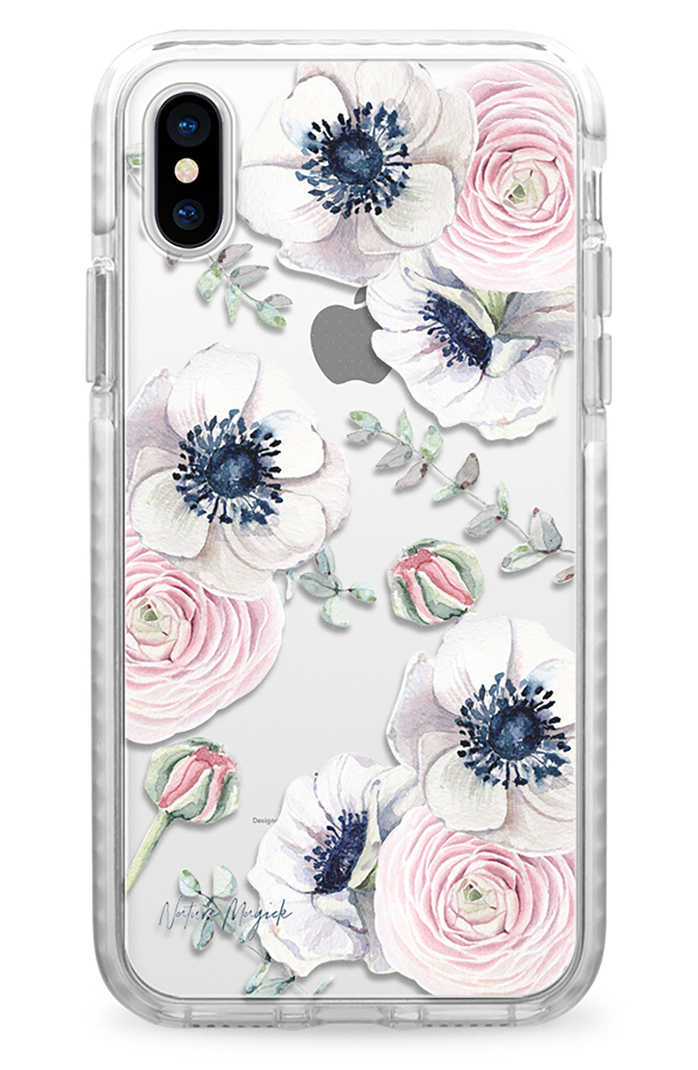 Blossom Love iPhone X Case,                             Main thumbnail 1, color,                             Clear Multi