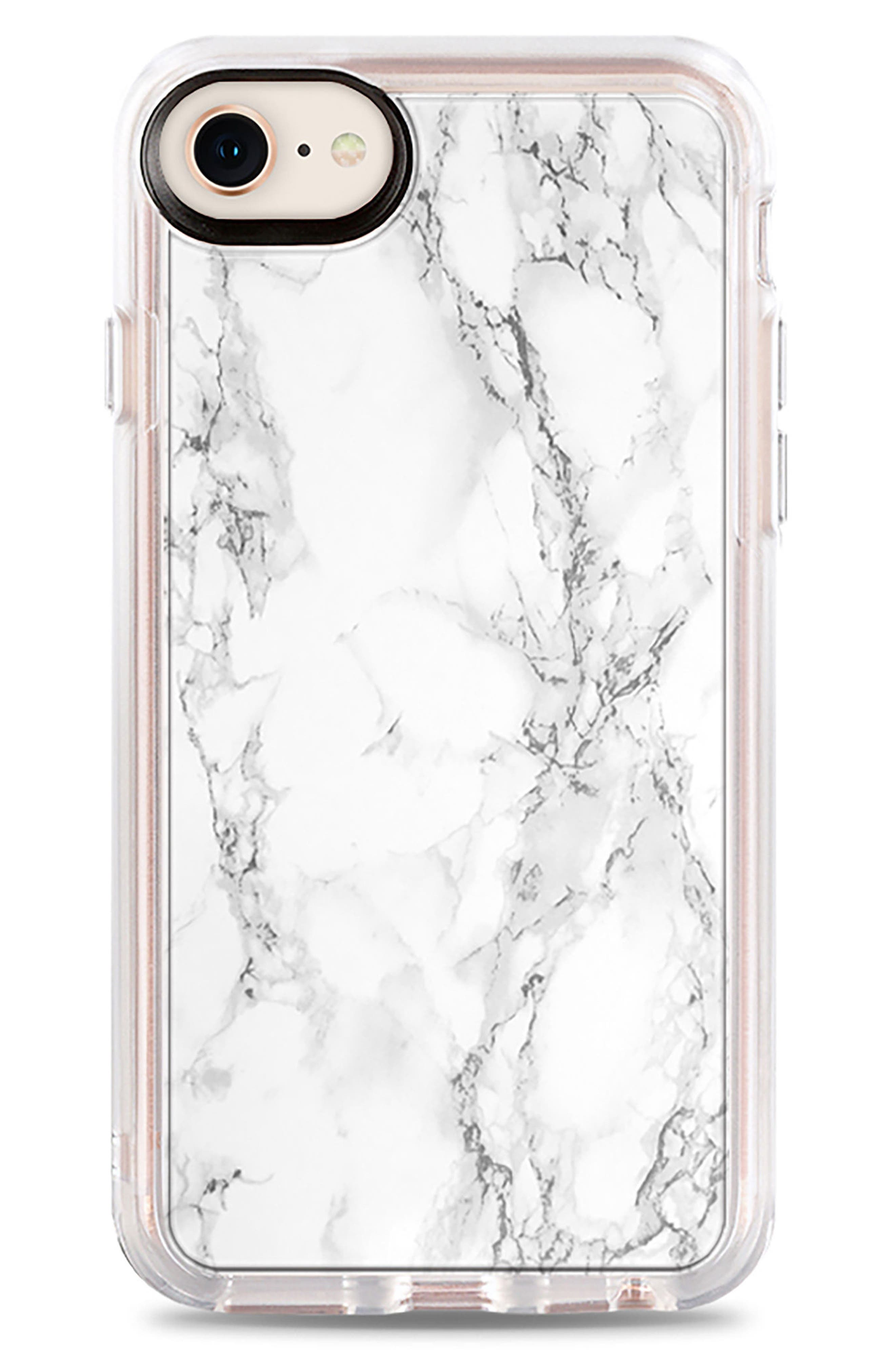 White Marble iPhone 7/8 & 7/8 Plus,                             Main thumbnail 1, color,                             White Marble