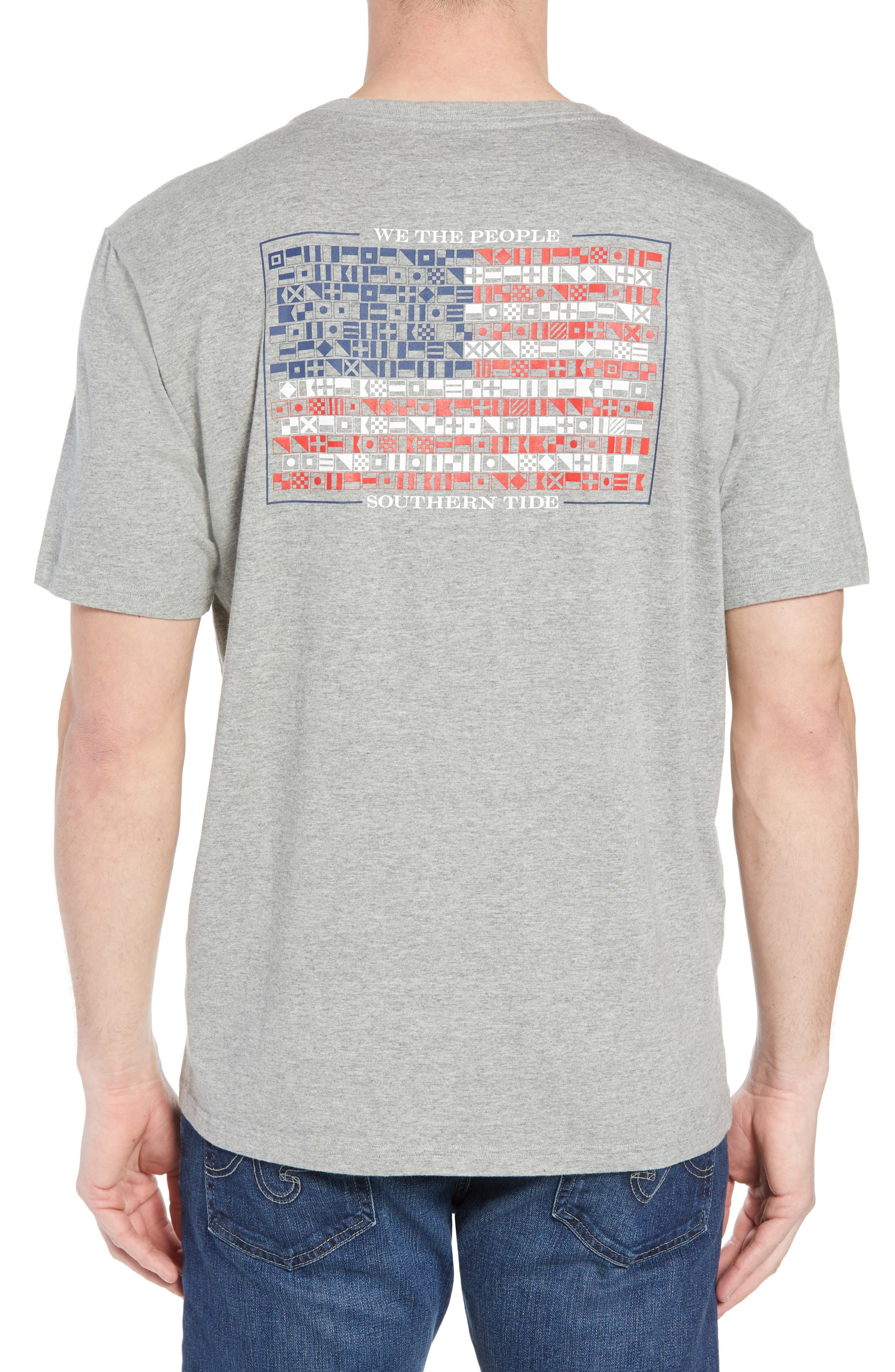We the People Regular Fit T-Shirt,                             Alternate thumbnail 2, color,                             Grey