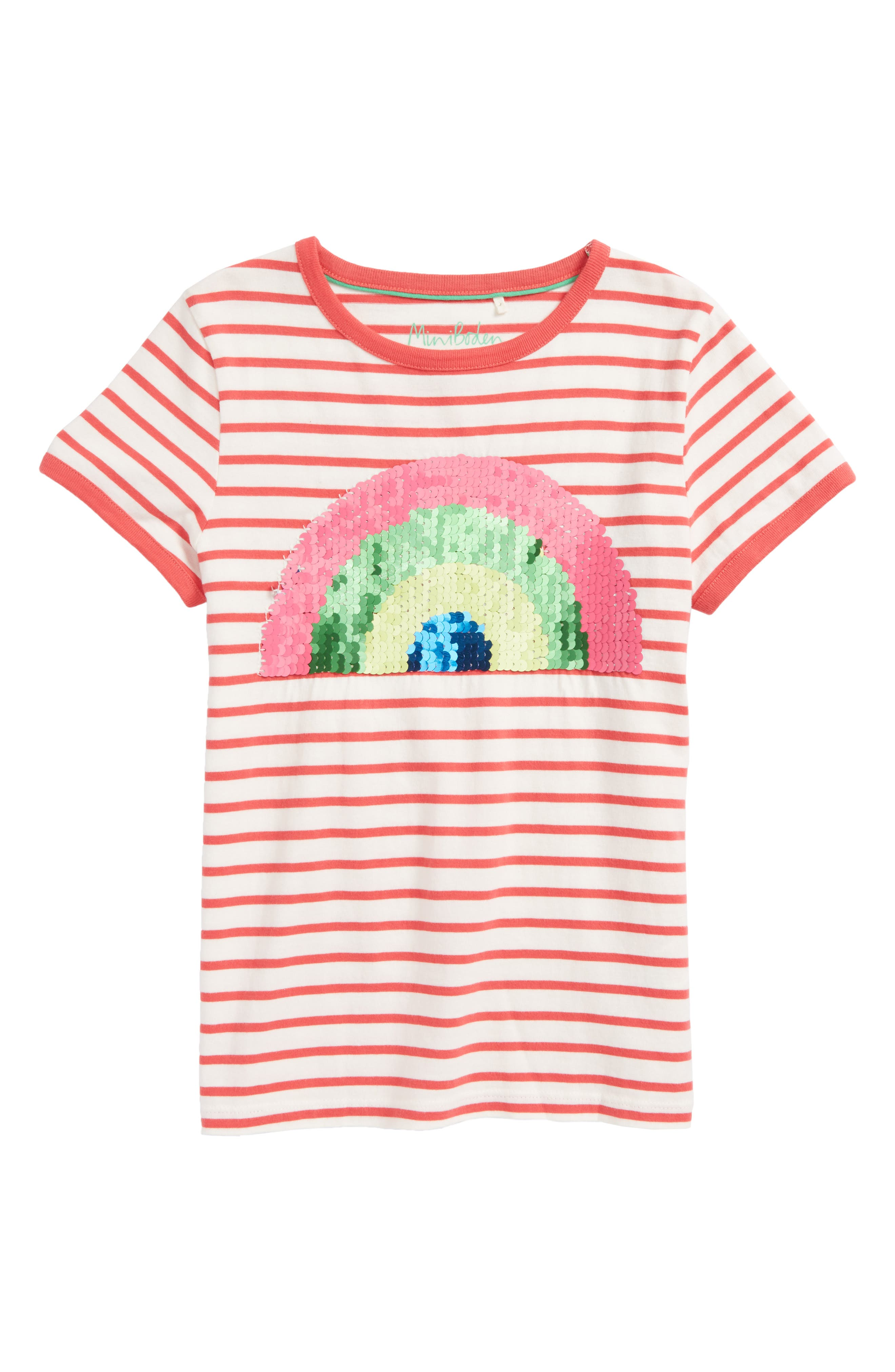 Mini Boden Color Change Sequin Tee (Toddler Girls, Little Girls & Big Girls)