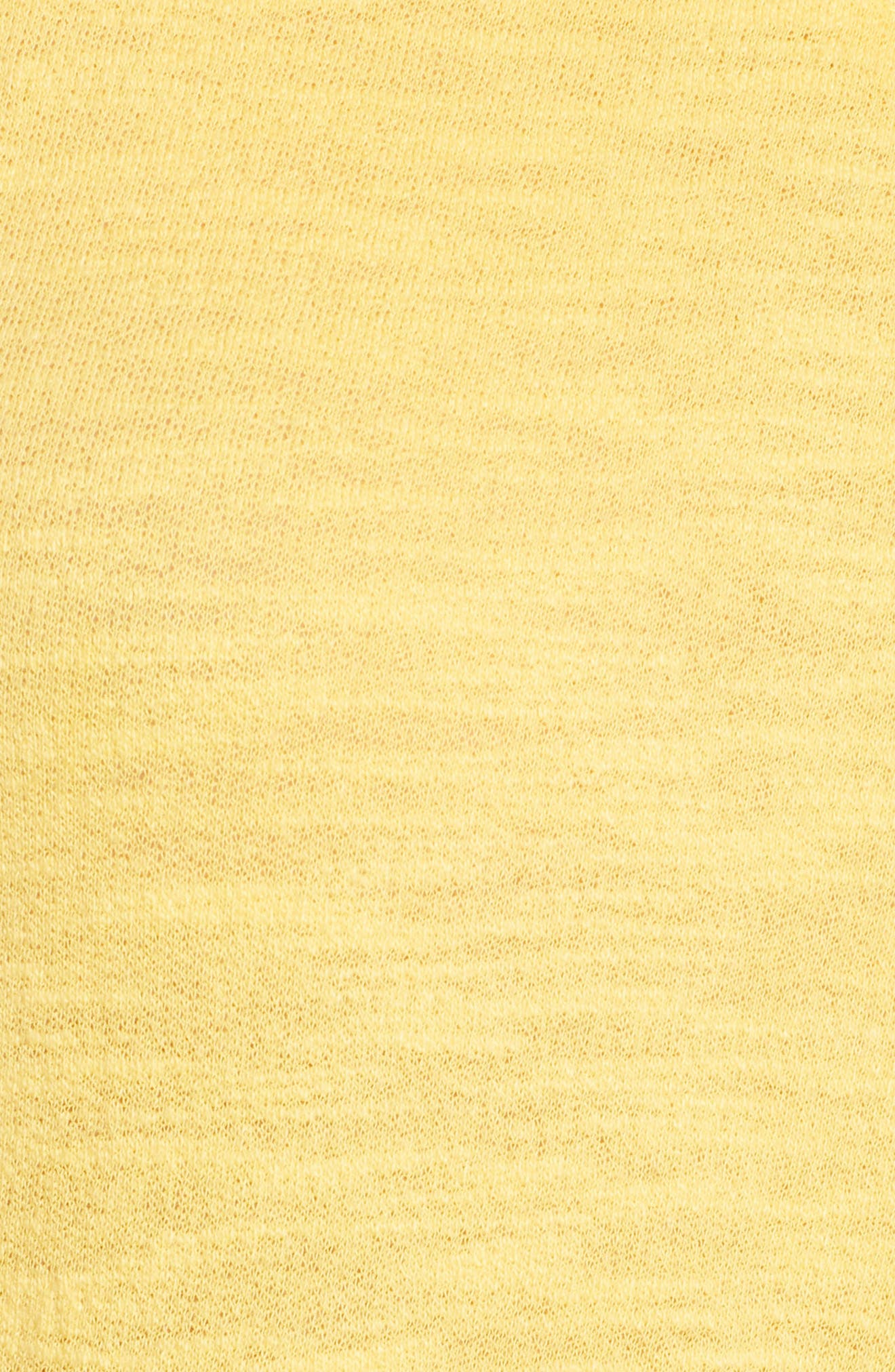 Tucson Cotton Dress,                             Alternate thumbnail 6, color,                             Buff Yellow