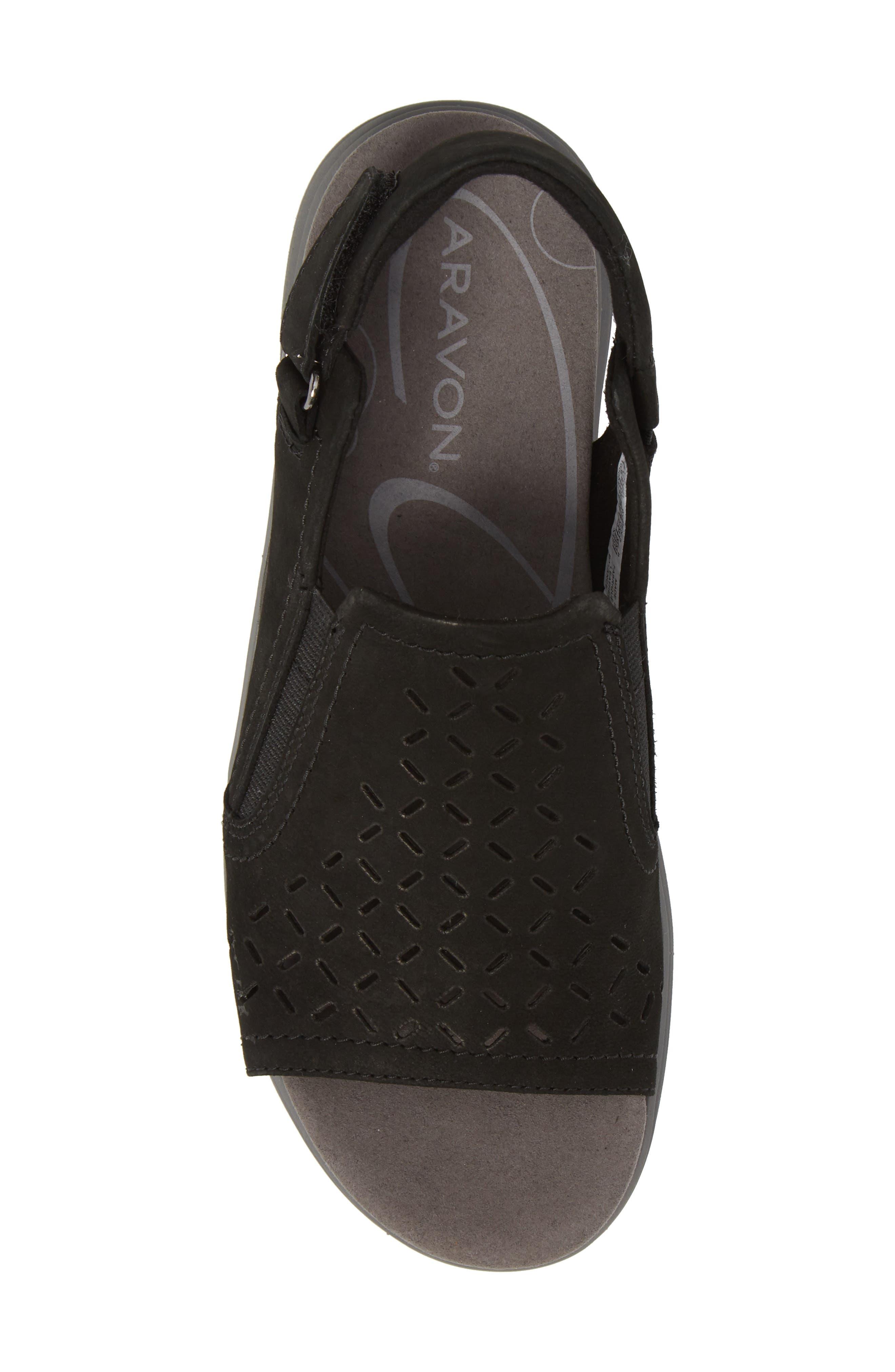 Beaumont Slingback Sandal,                             Alternate thumbnail 5, color,                             Black Nubuck Leather