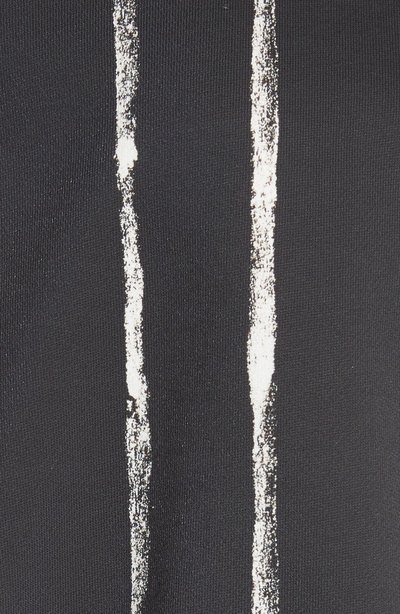 Paint Stripe Crewneck Sweatshirt,                             Alternate thumbnail 5, color,                             Black/ White