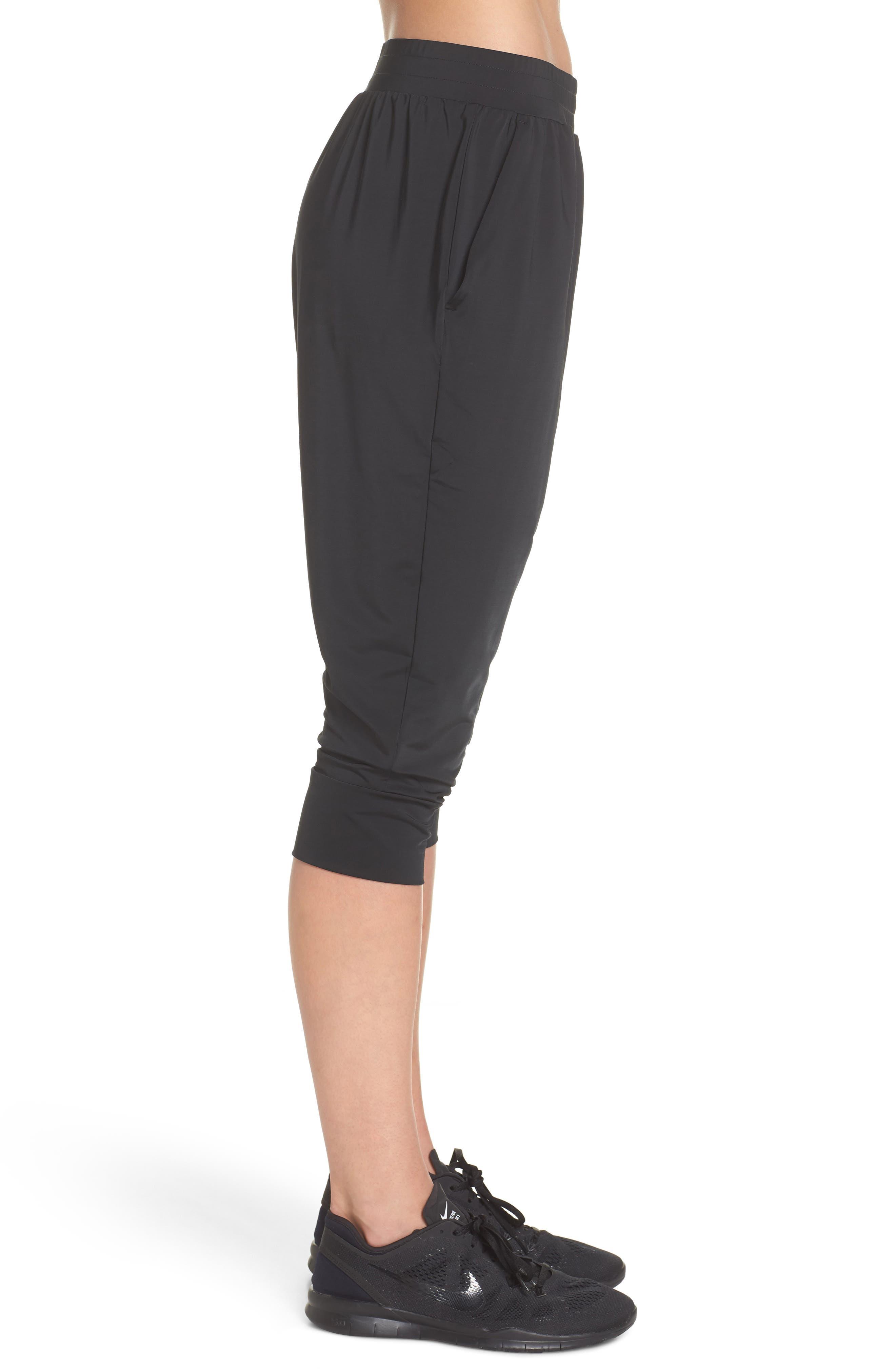 Dry Touch Training Pants,                             Alternate thumbnail 3, color,                             Black/ Black