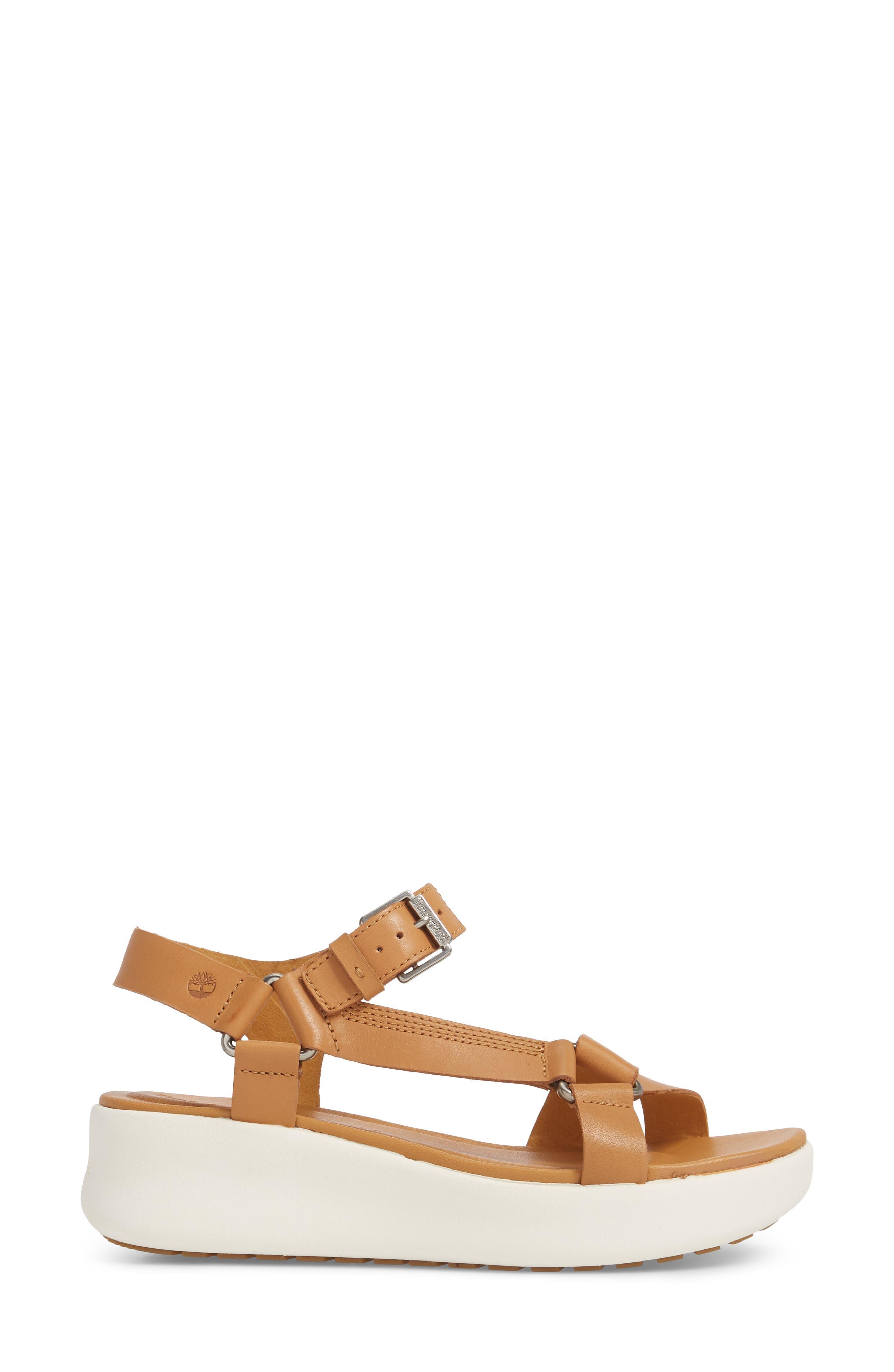 Los Angeles Wind Sport Sandal,                             Alternate thumbnail 3, color,                             Medium Brown Leather