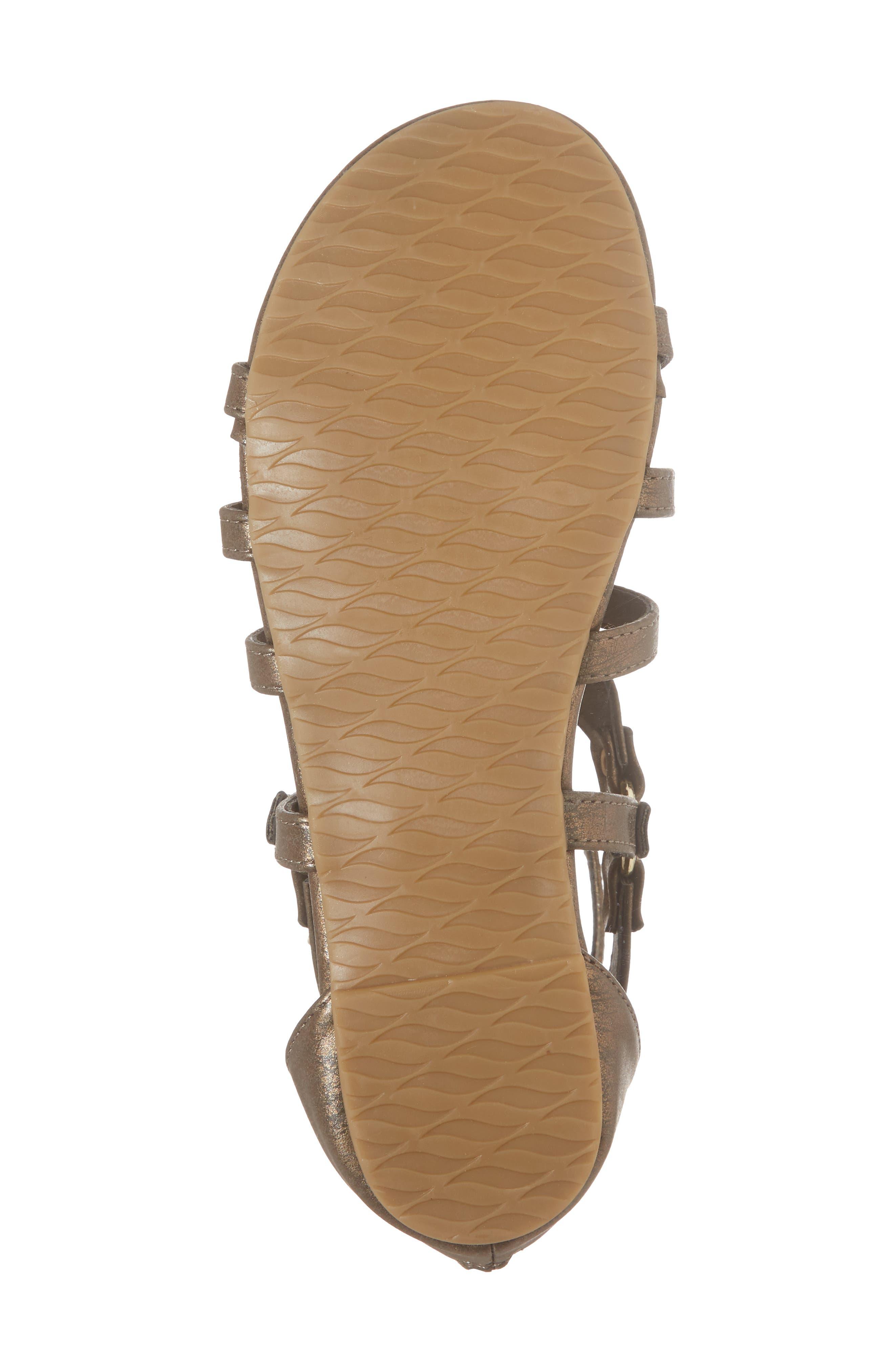 Reaction Kenneth Cole Kiera Metallic Sandal,                             Alternate thumbnail 6, color,                             Bronze