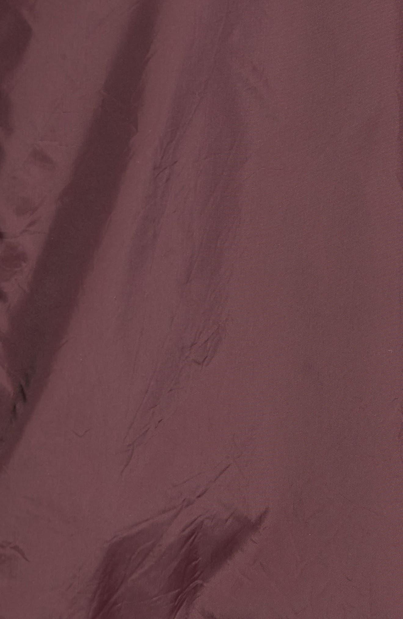 Slim Fit Bomber Jacket,                             Alternate thumbnail 5, color,                             Merlot
