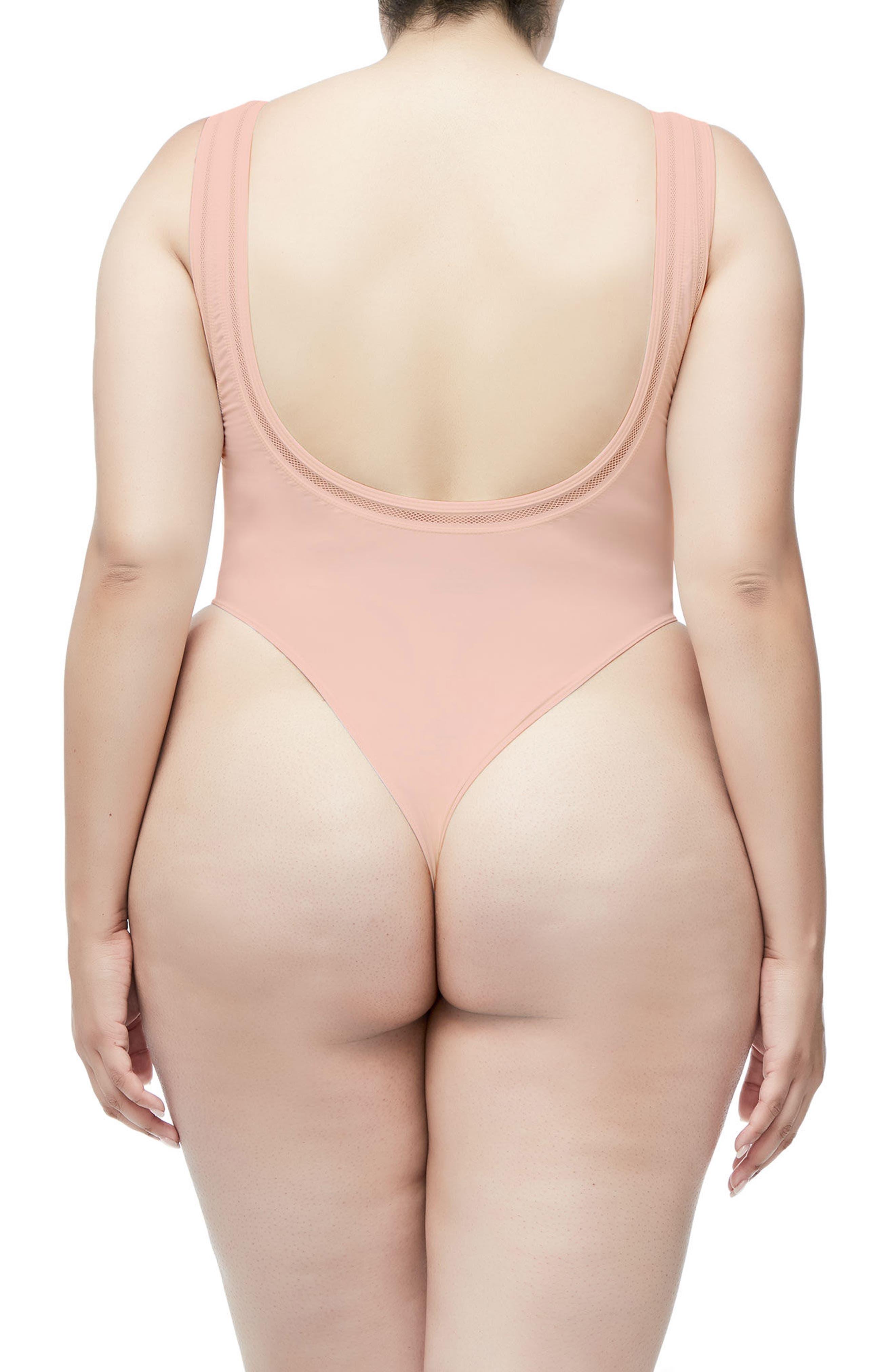 Good Body Khlo Thong Bodysuit,                             Alternate thumbnail 6, color,                             Blush001