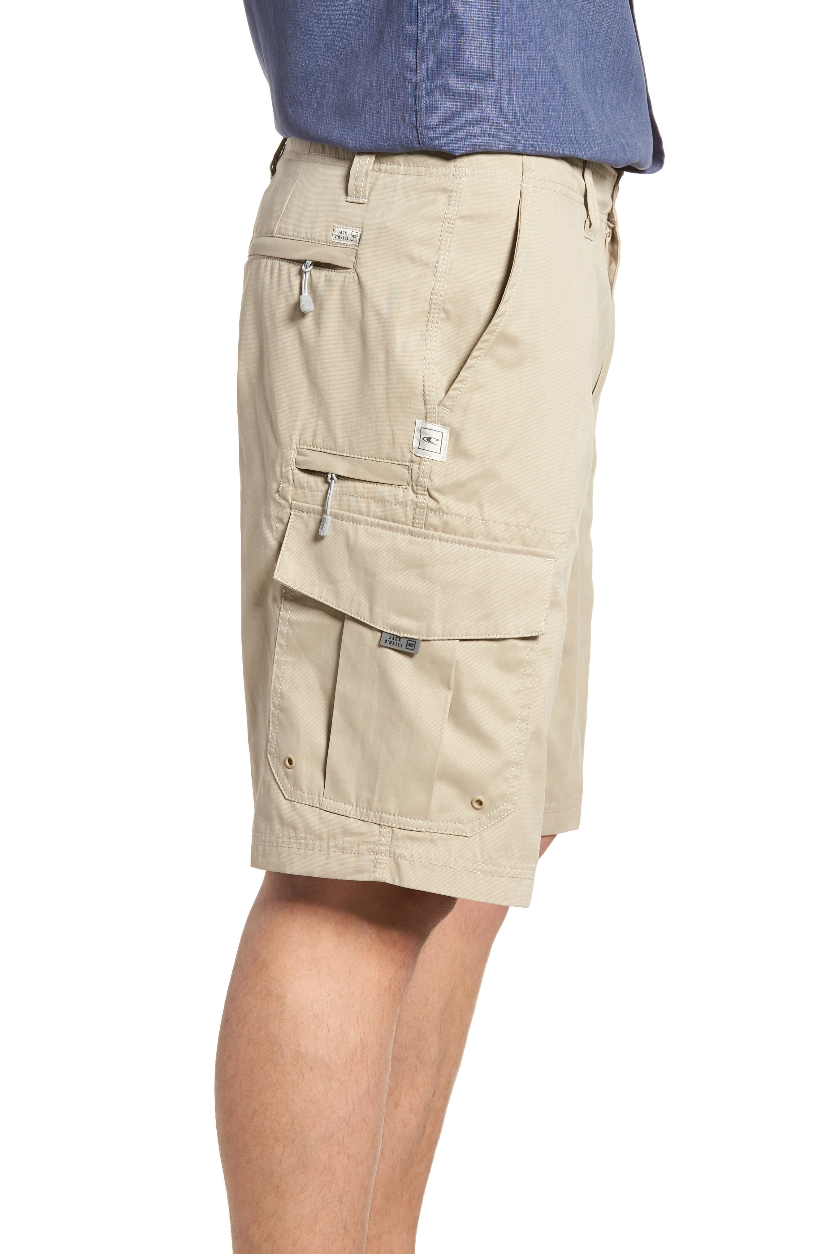 Landmark Cargo Shorts,                             Alternate thumbnail 3, color,                             Khaki