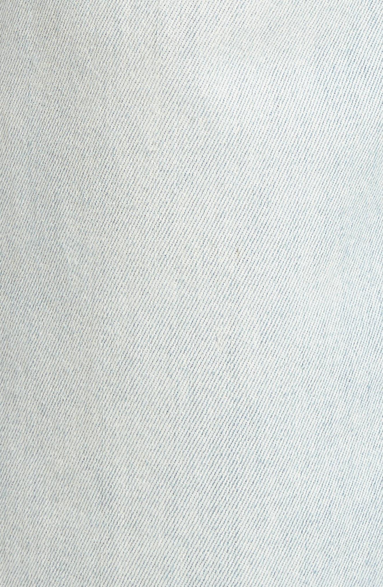 Holly High Waist Released Hem Crop Wide Leg Jeans,                             Alternate thumbnail 6, color,                             Frame Of Mind