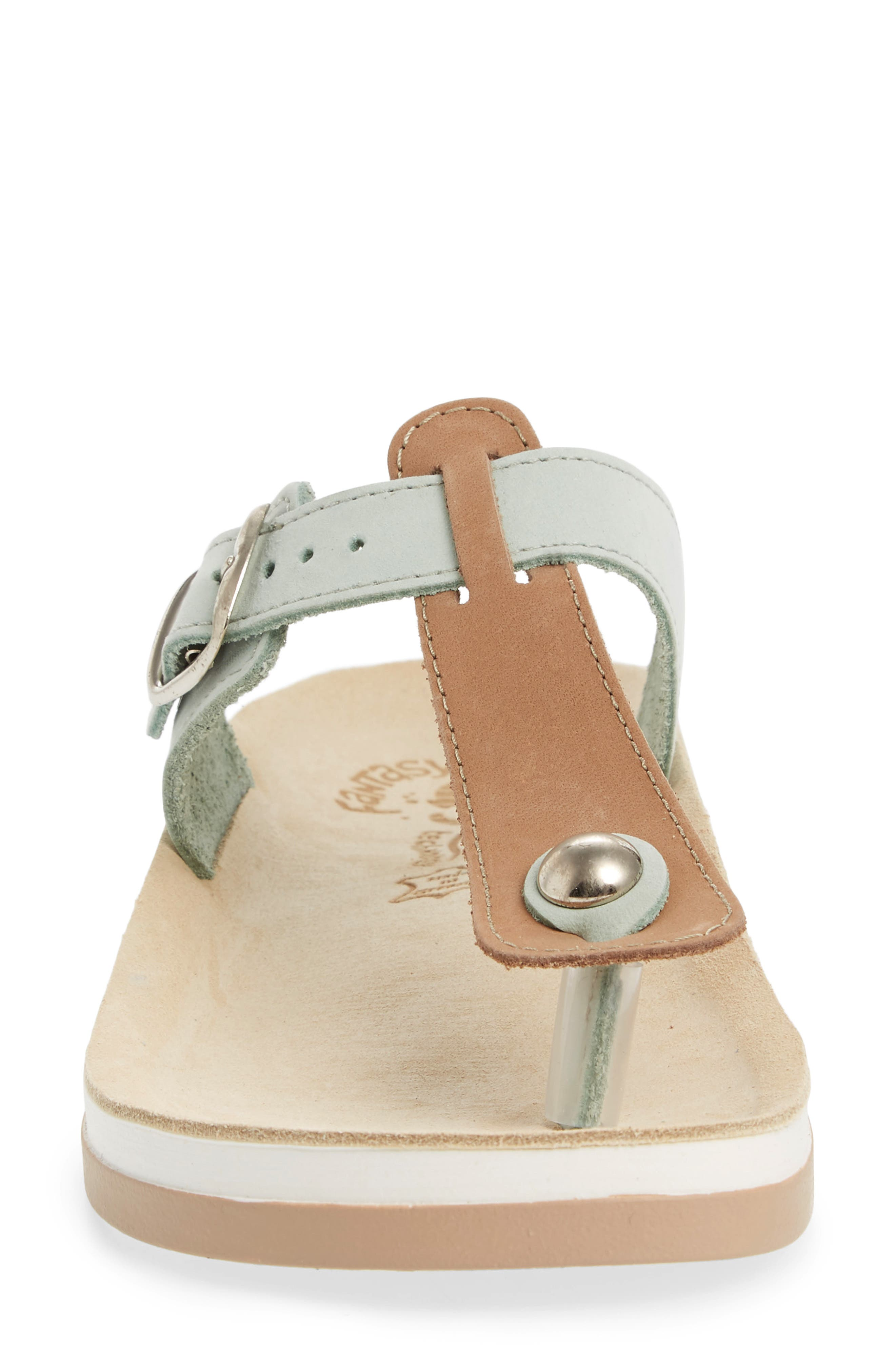 Viola Sandal,                             Alternate thumbnail 4, color,                             Pistachio Beige Leather