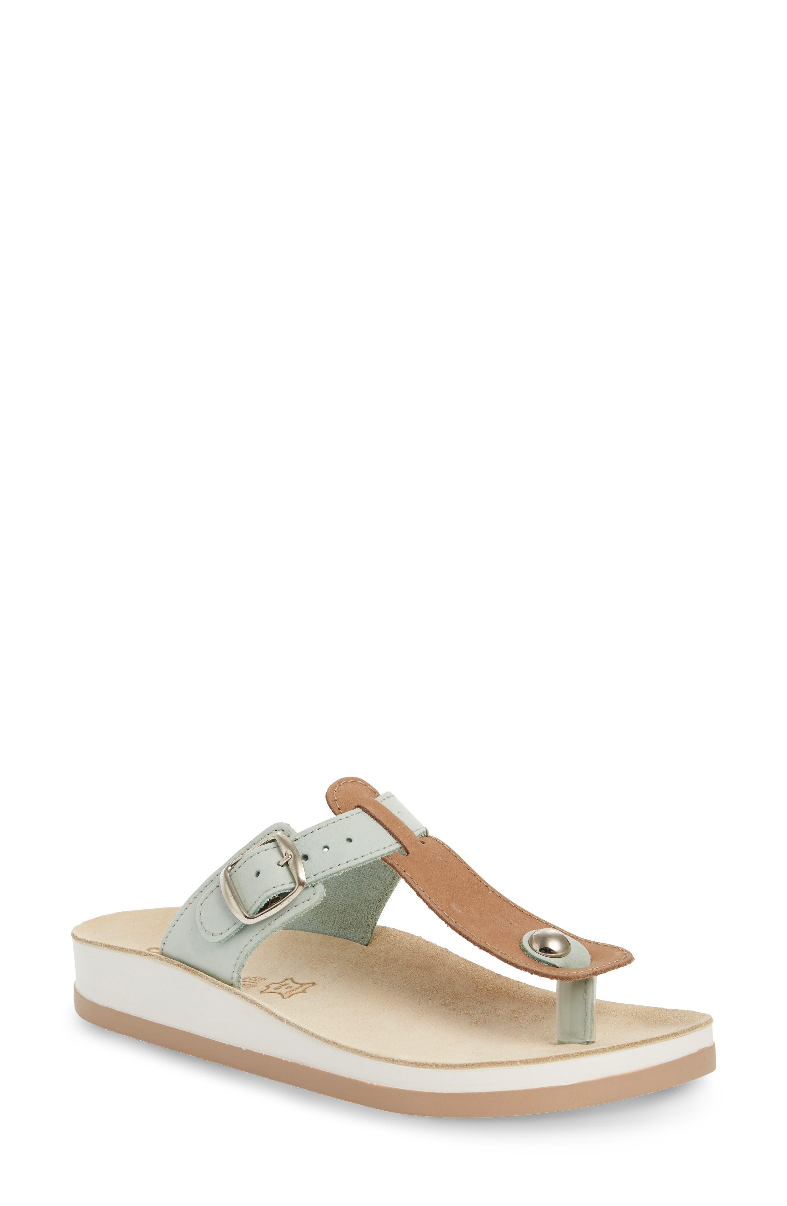 Viola Sandal,                         Main,                         color, Pistachio Beige Leather