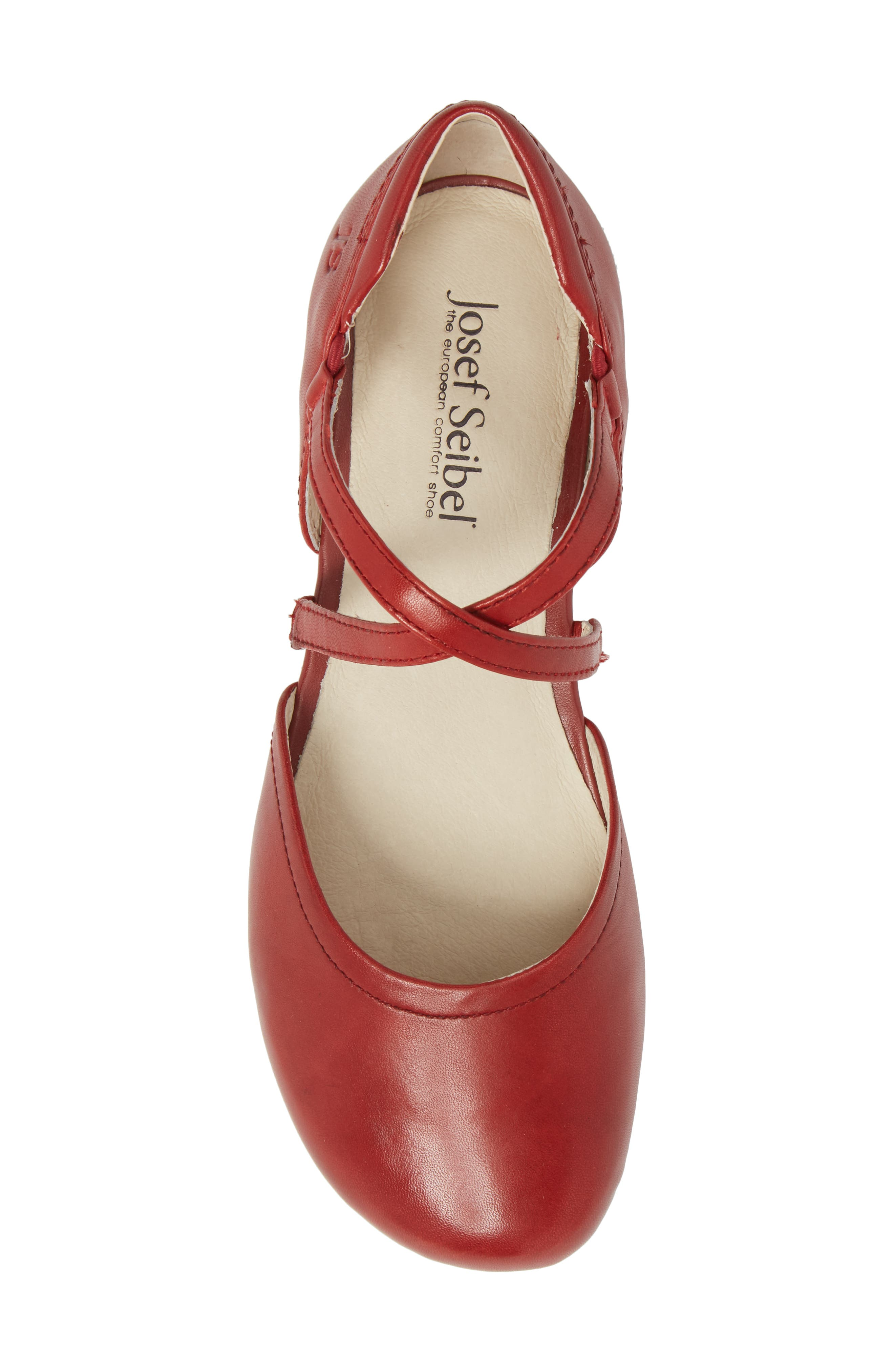 Fiona 41 Flat,                             Alternate thumbnail 5, color,                             Red Leather