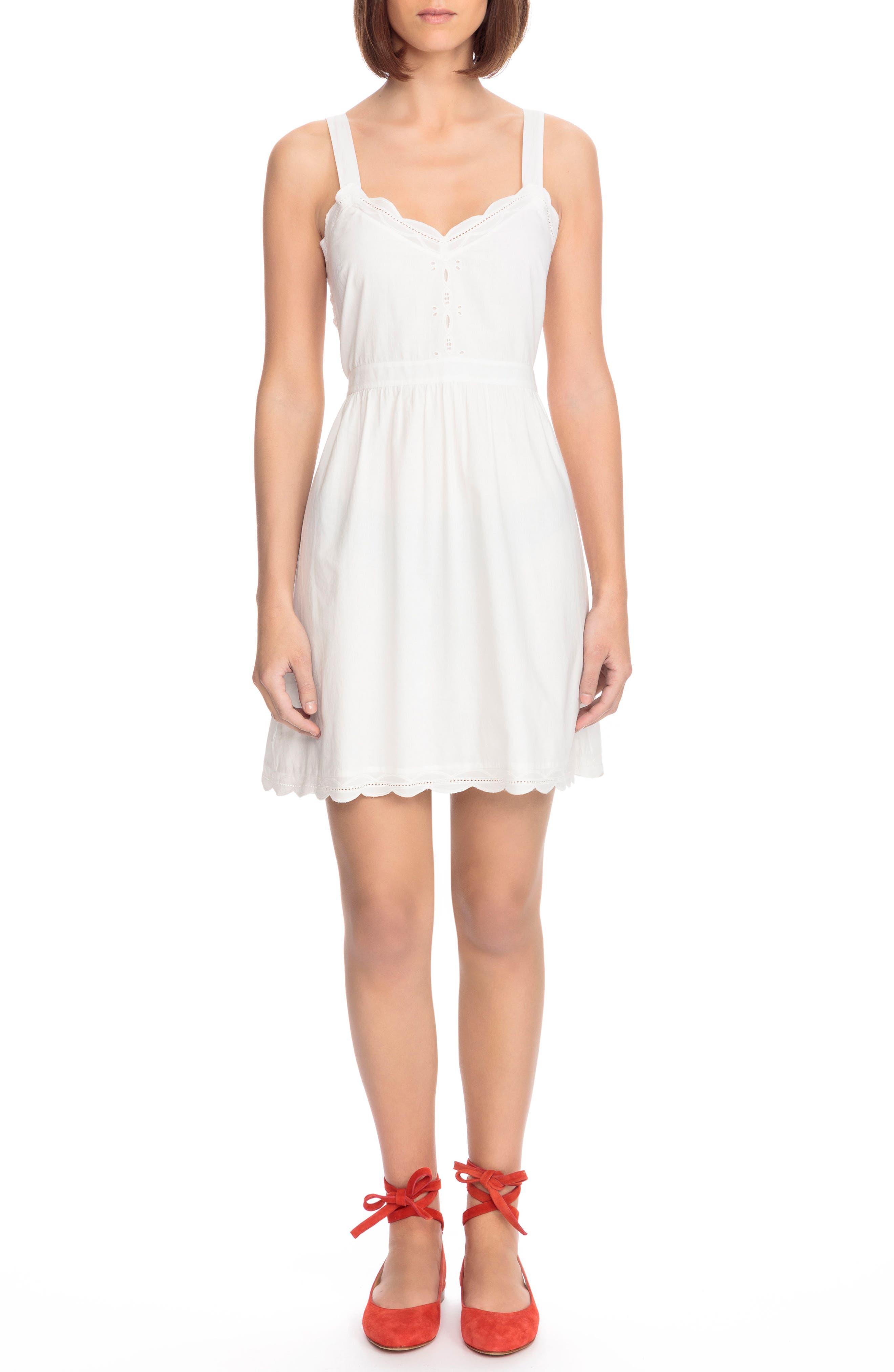 Austin Back Tie Sundress,                         Main,                         color, Off White