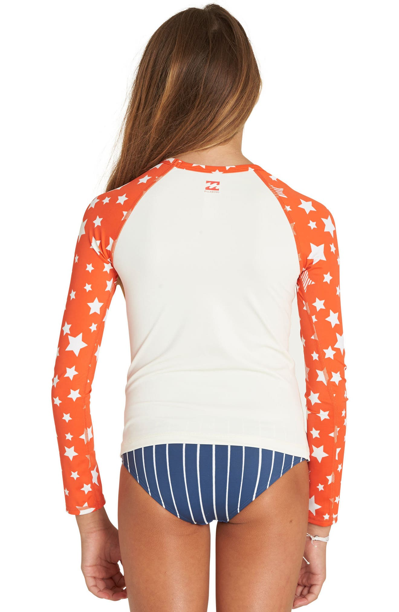 I Sea Stars Two-Piece Rashguard Swimsuit,                             Alternate thumbnail 4, color,                             Multi