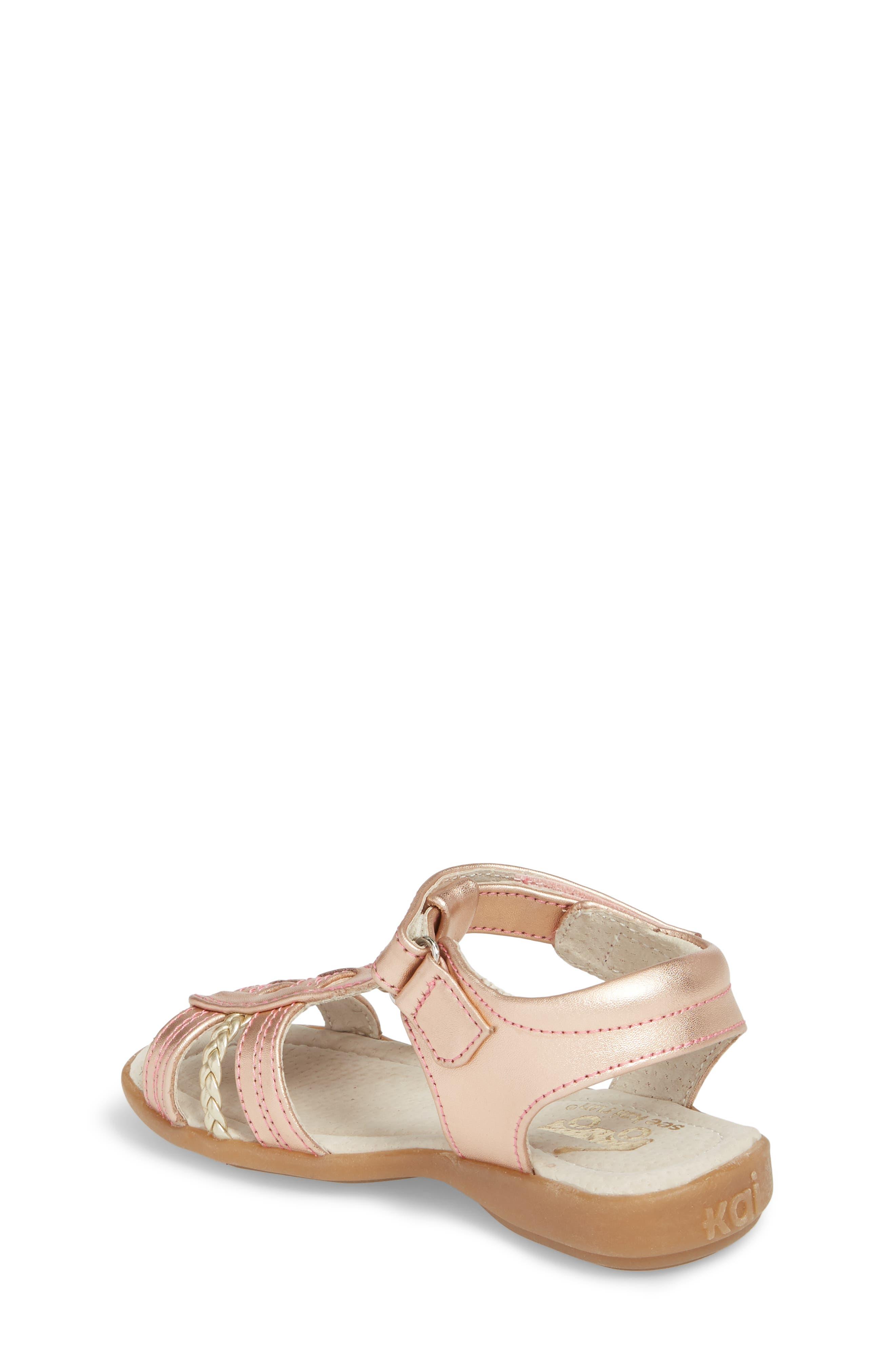 Hadley Metallic Sandal,                             Alternate thumbnail 2, color,                             Rose Gold