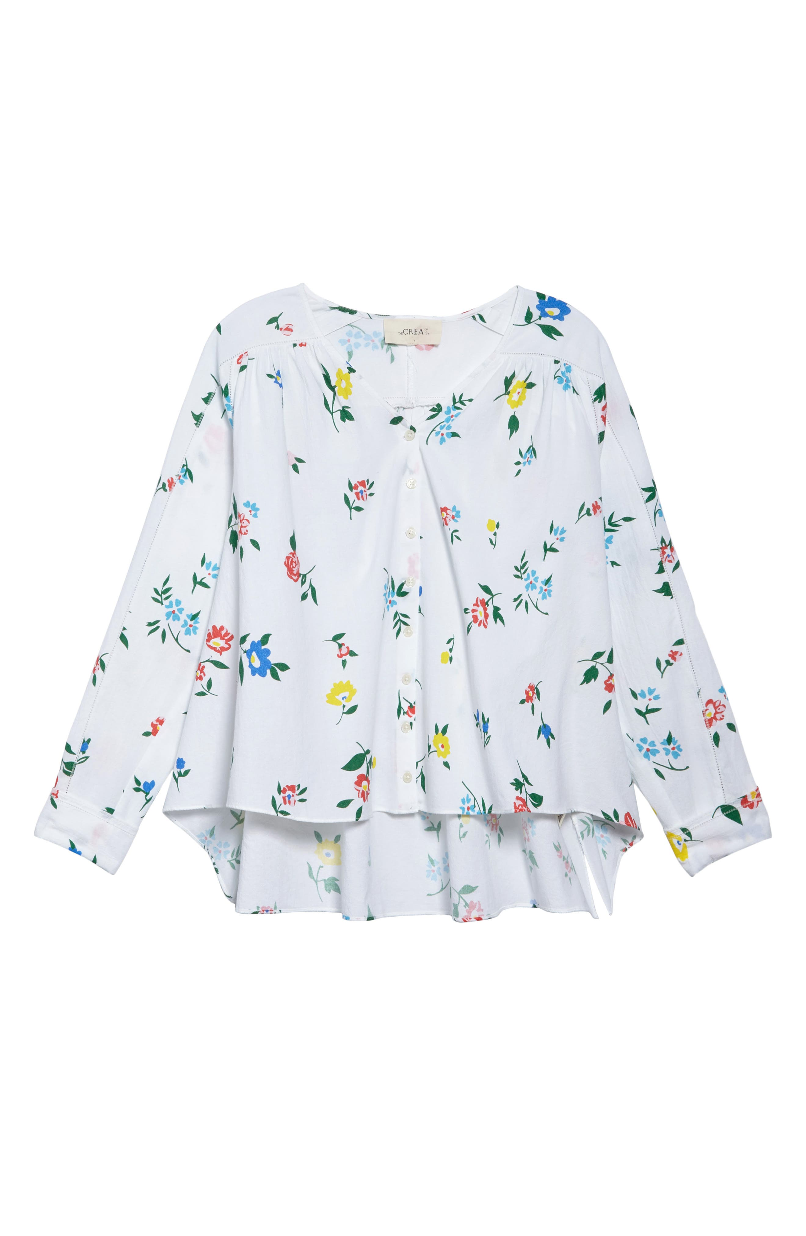 The Boutonniere Top,                             Alternate thumbnail 8, color,                             Western Wallflower Print