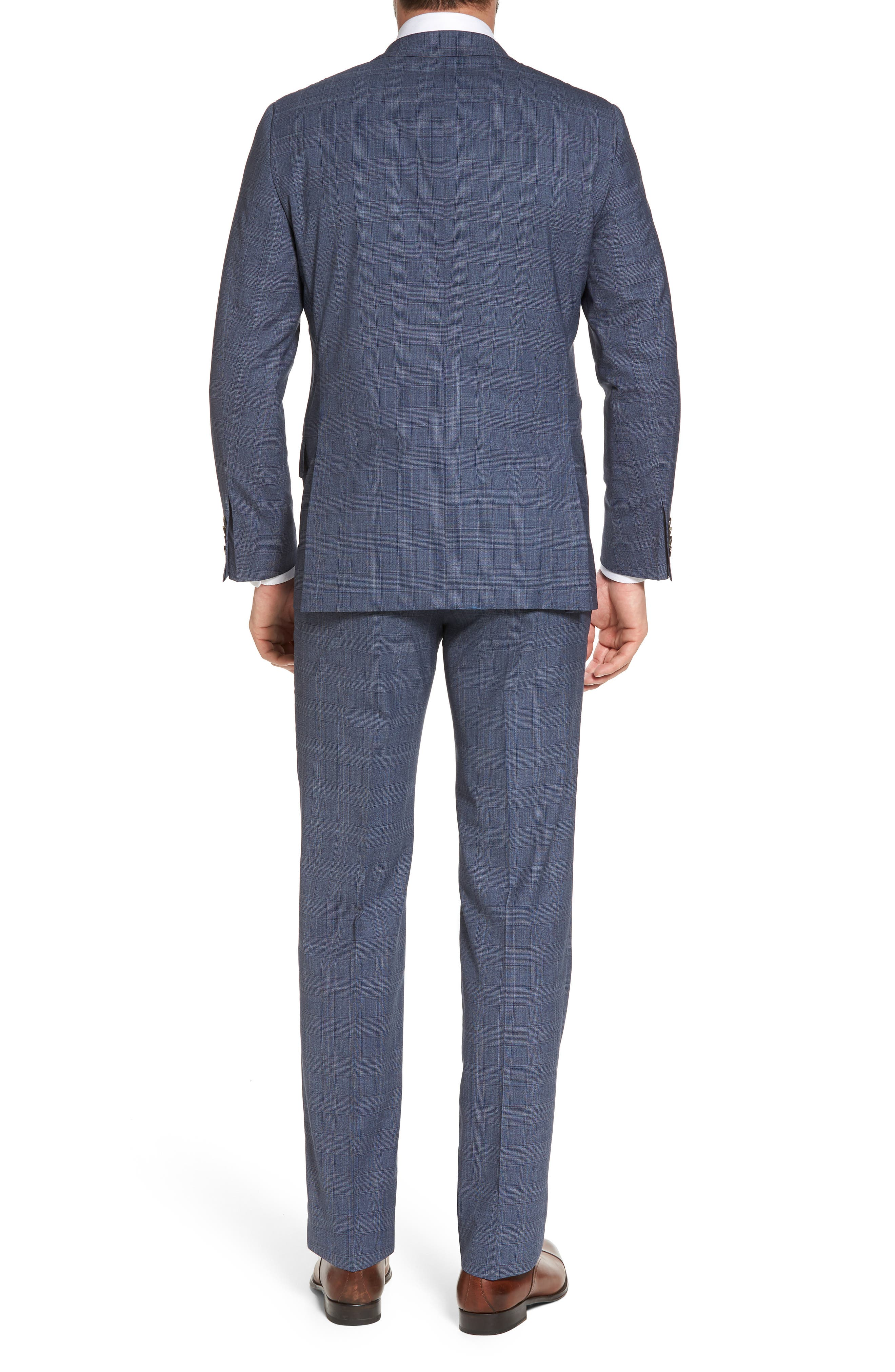 Classic B Fit Plaid Wool Suit,                             Alternate thumbnail 2, color,                             Blue