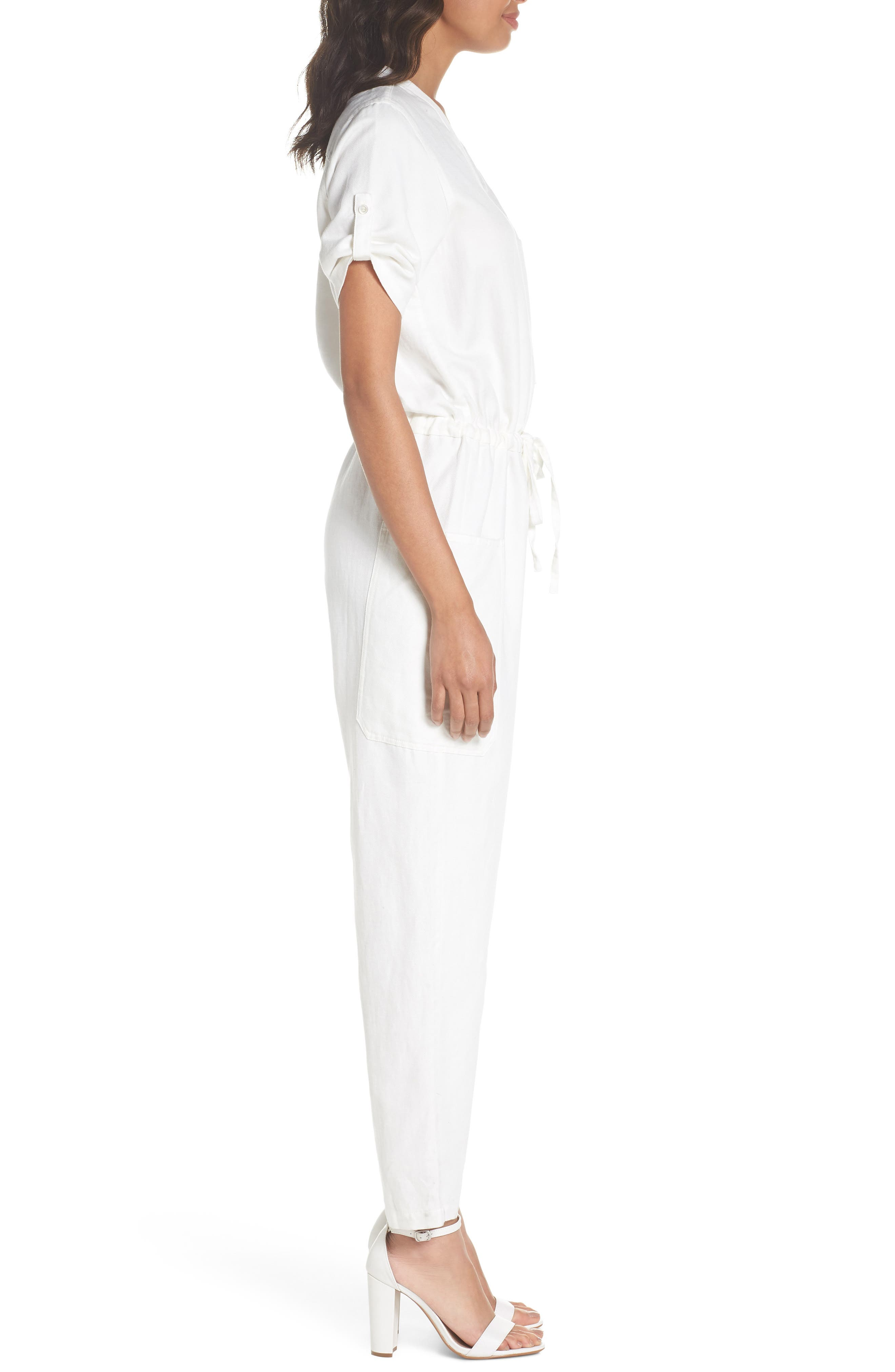 Keep It Cool Jumpsuit,                             Alternate thumbnail 3, color,                             White