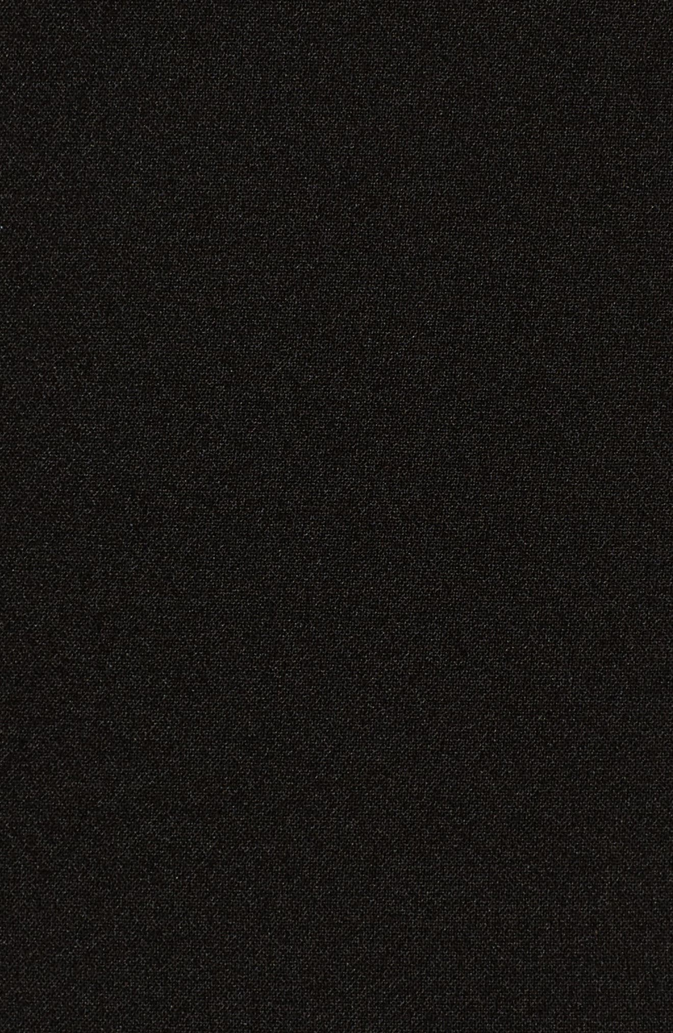 Jeanie Trumpet Midi Dress,                             Alternate thumbnail 5, color,                             Black