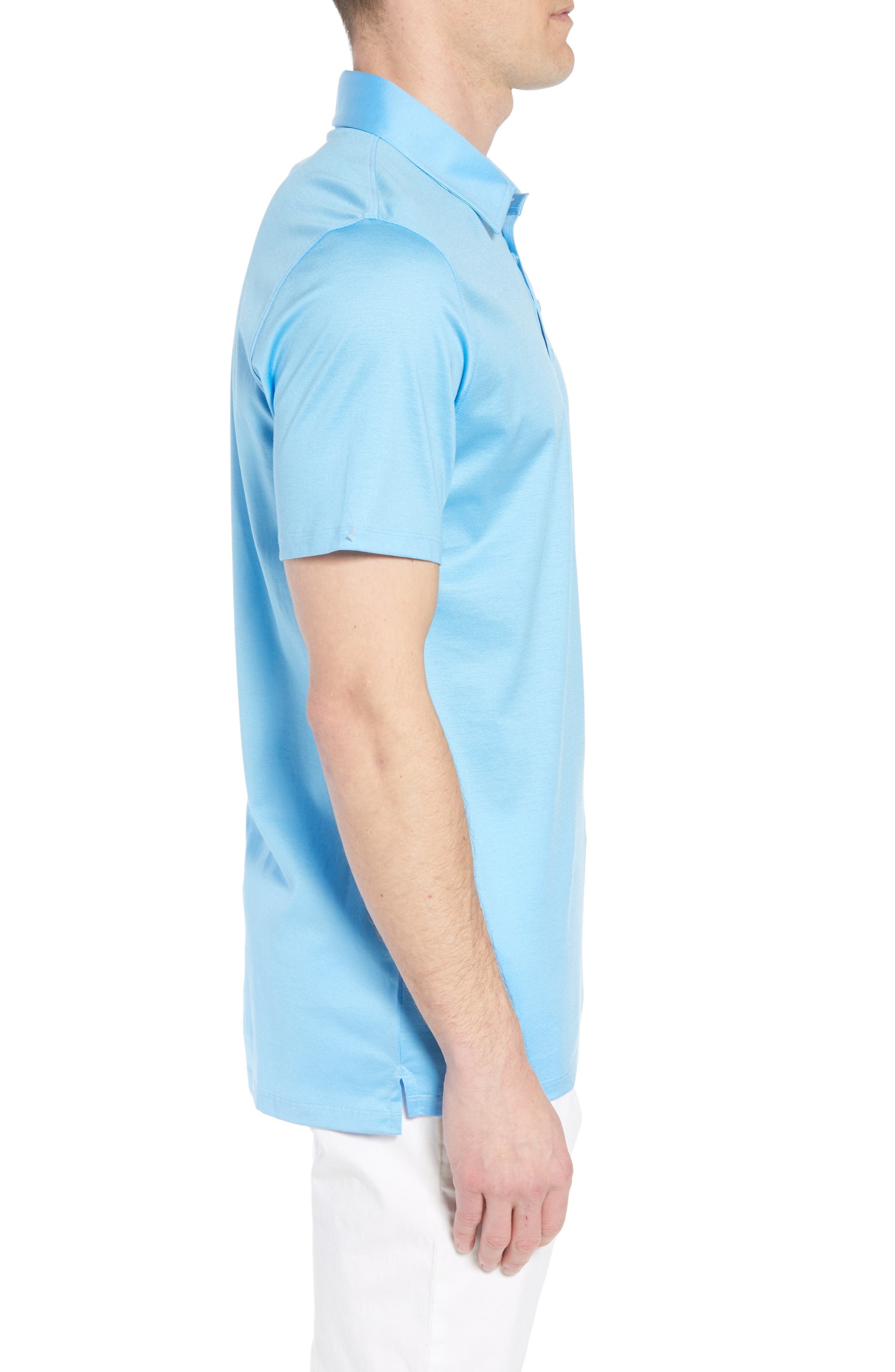Essential Regular Fit Polo,                             Alternate thumbnail 3, color,                             Pacific