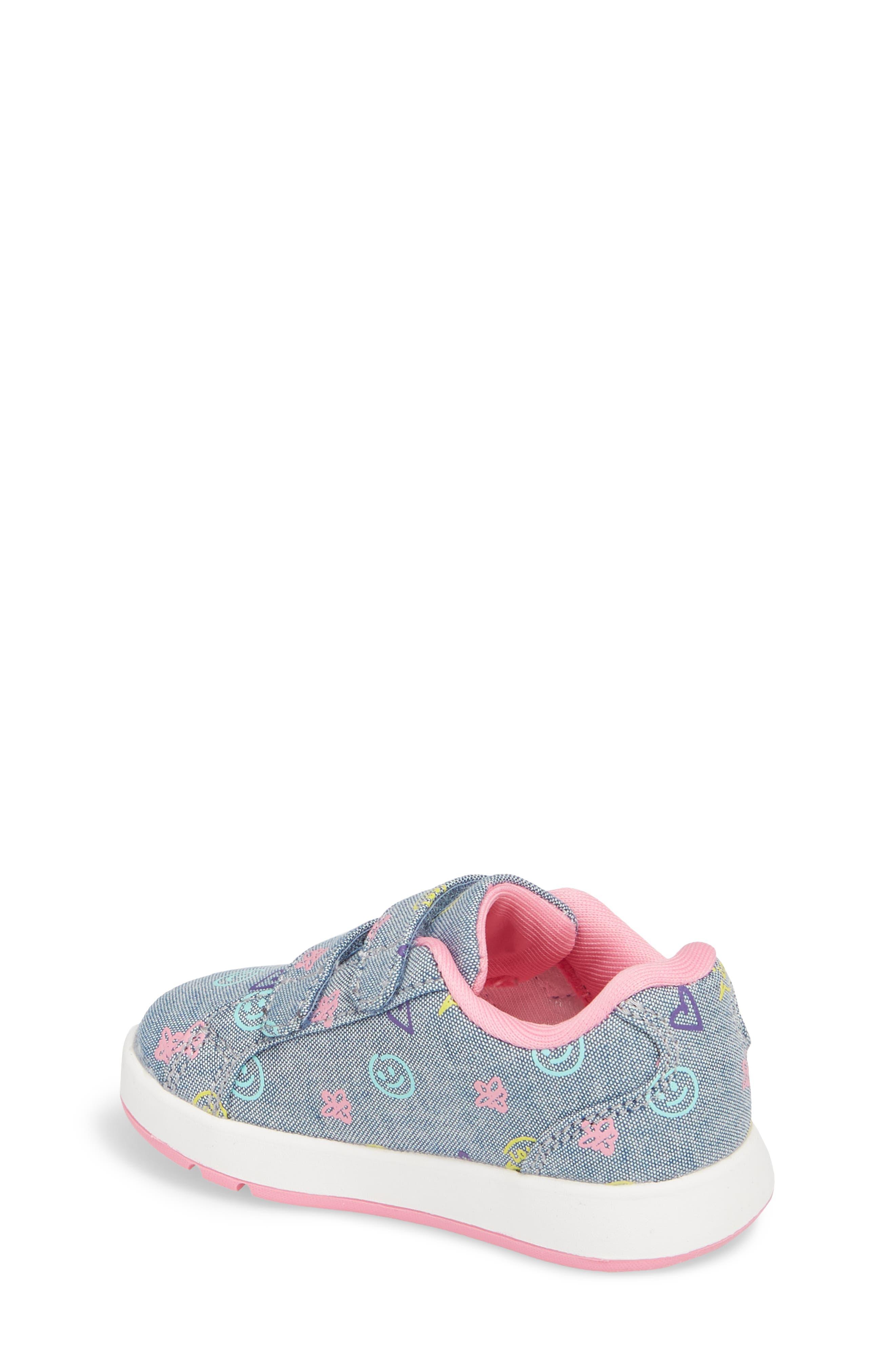 Kate Print Sneaker,                             Alternate thumbnail 2, color,                             Blue Denim Printed Fabric