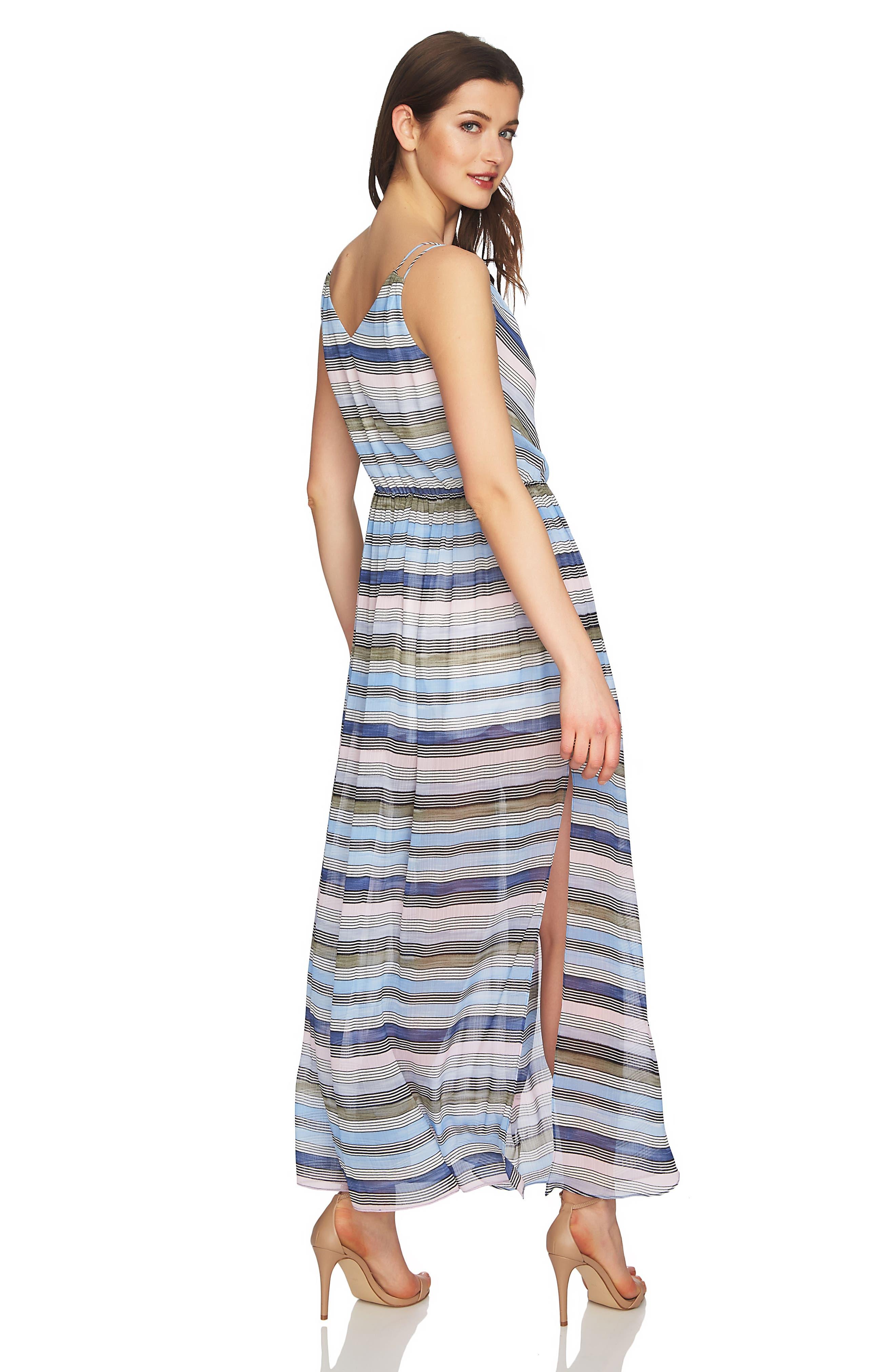 Jordan Stripe Maxi Dress,                             Alternate thumbnail 3, color,                             Rainfall