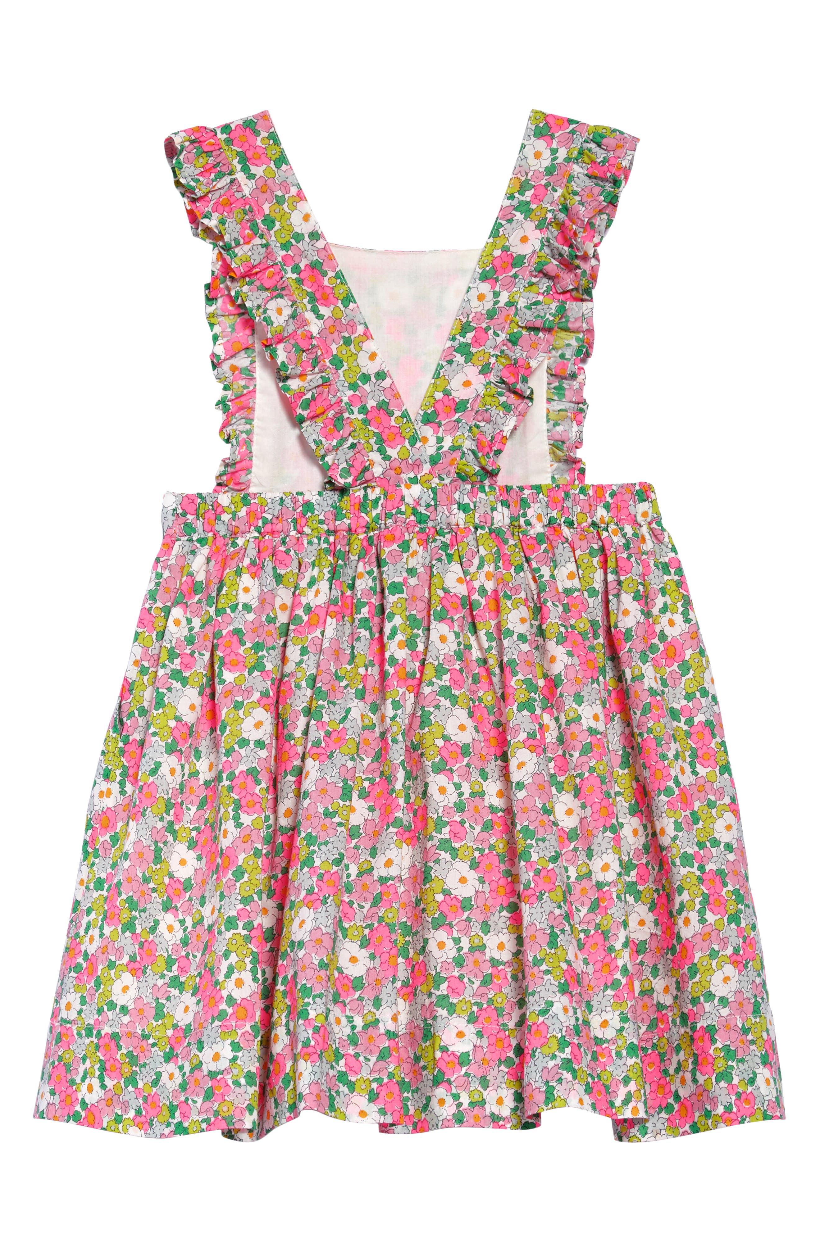 Alternate Image 2  - Mini Boden Frill Cross Back Woven Dress (Toddler Girls, Little Girls & Big Girls)