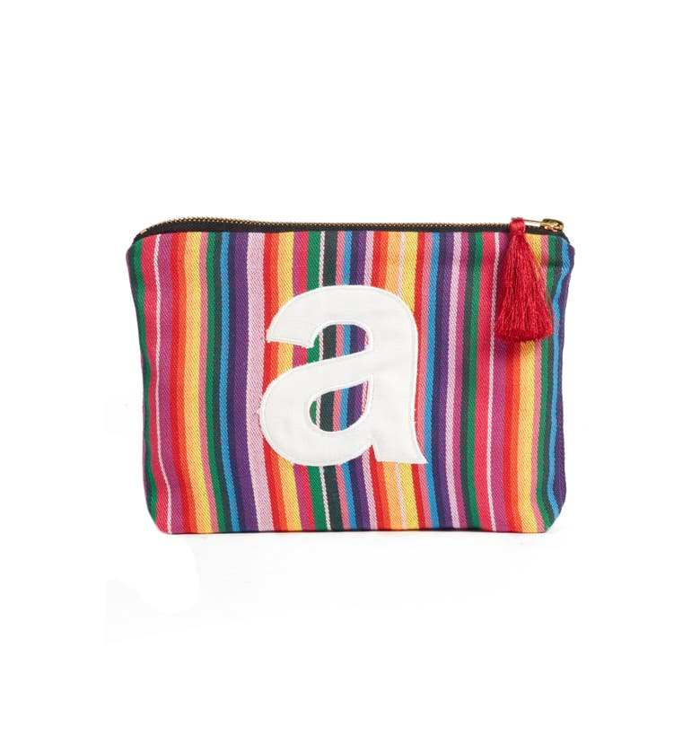 Chic Initial Zip Pouch