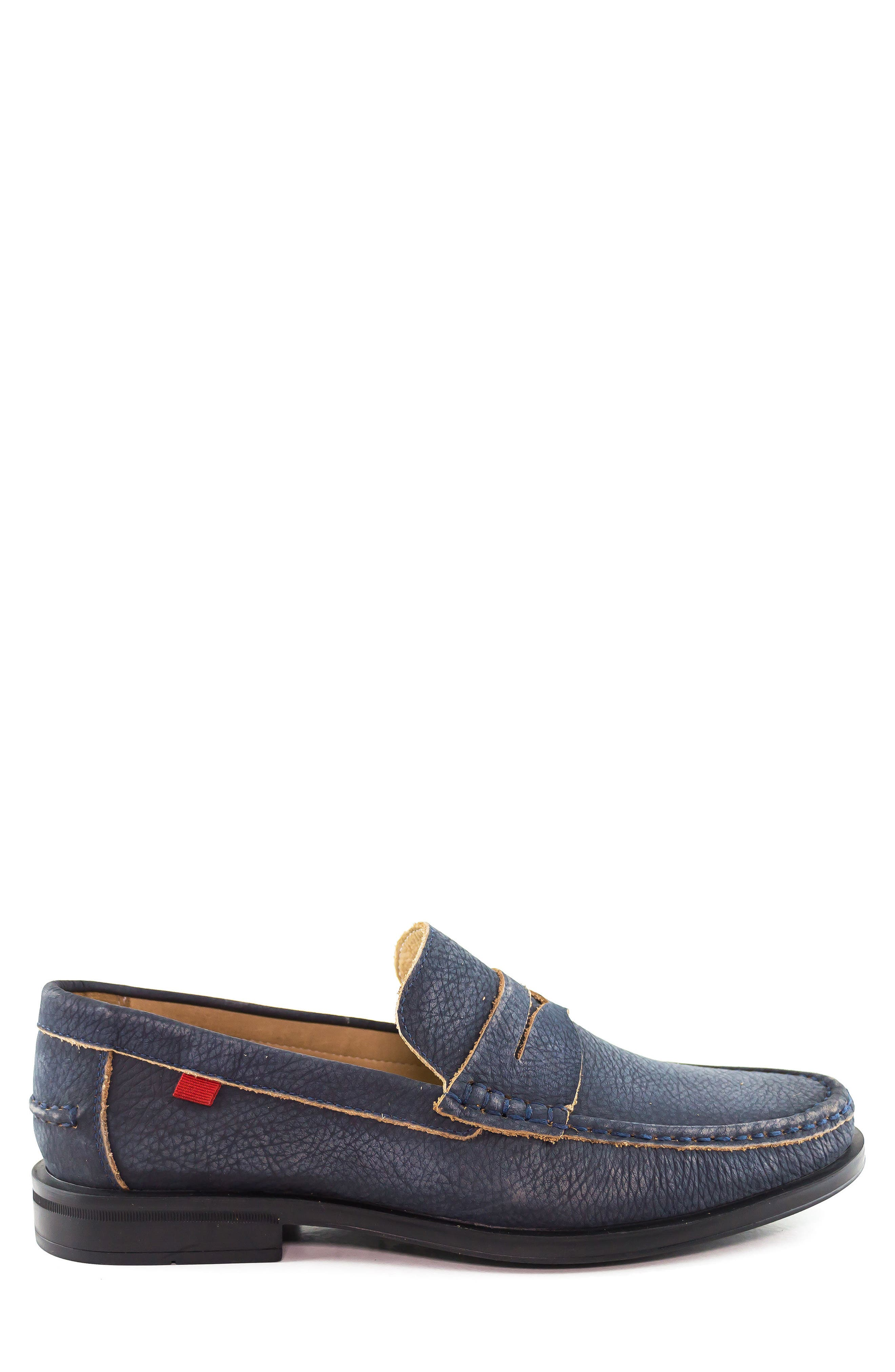 Cortland Penny Loafer,                             Alternate thumbnail 3, color,                             Navy