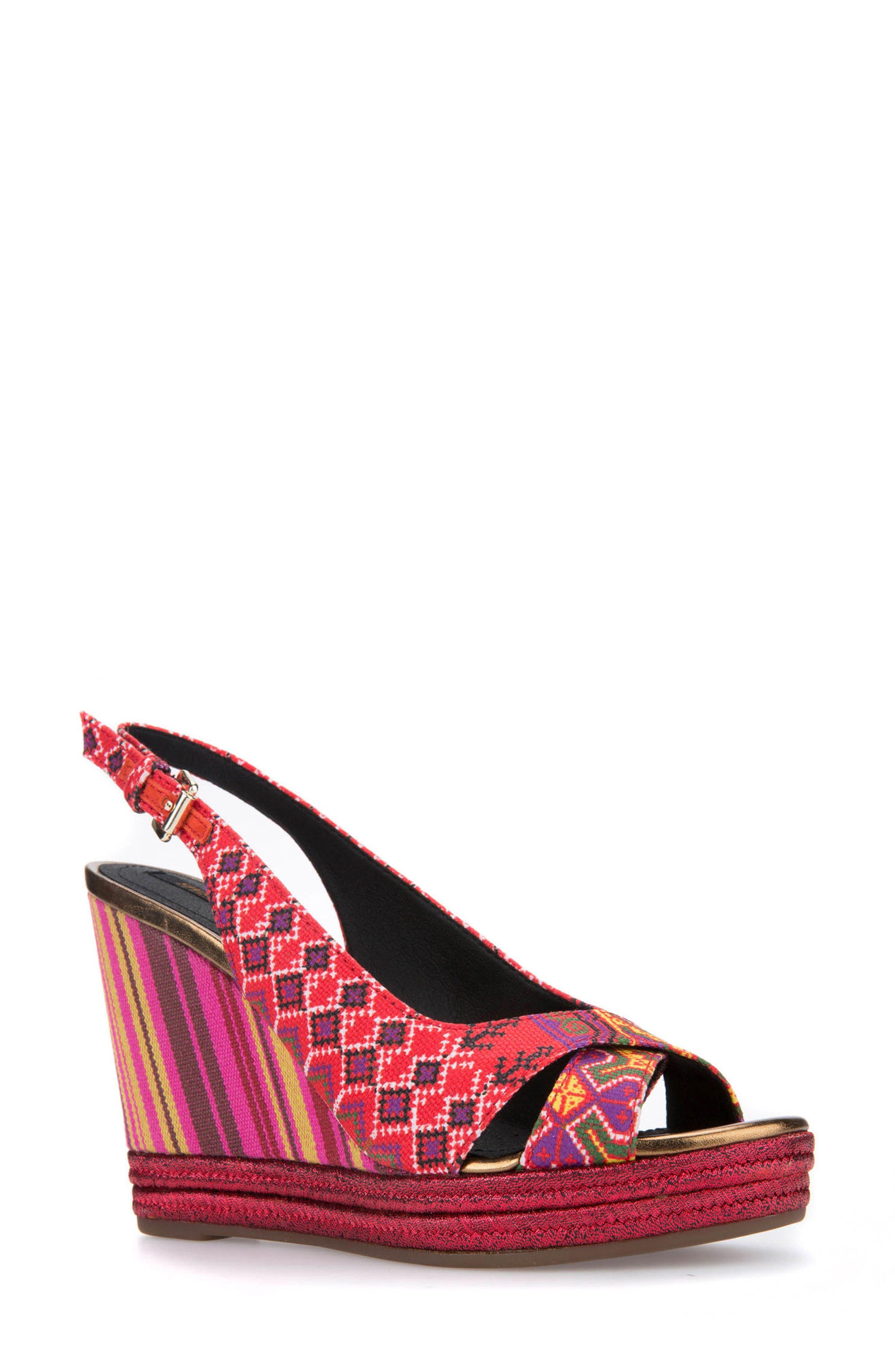 Geox Janira 13 Espadrille Wedge Sandal (Women)