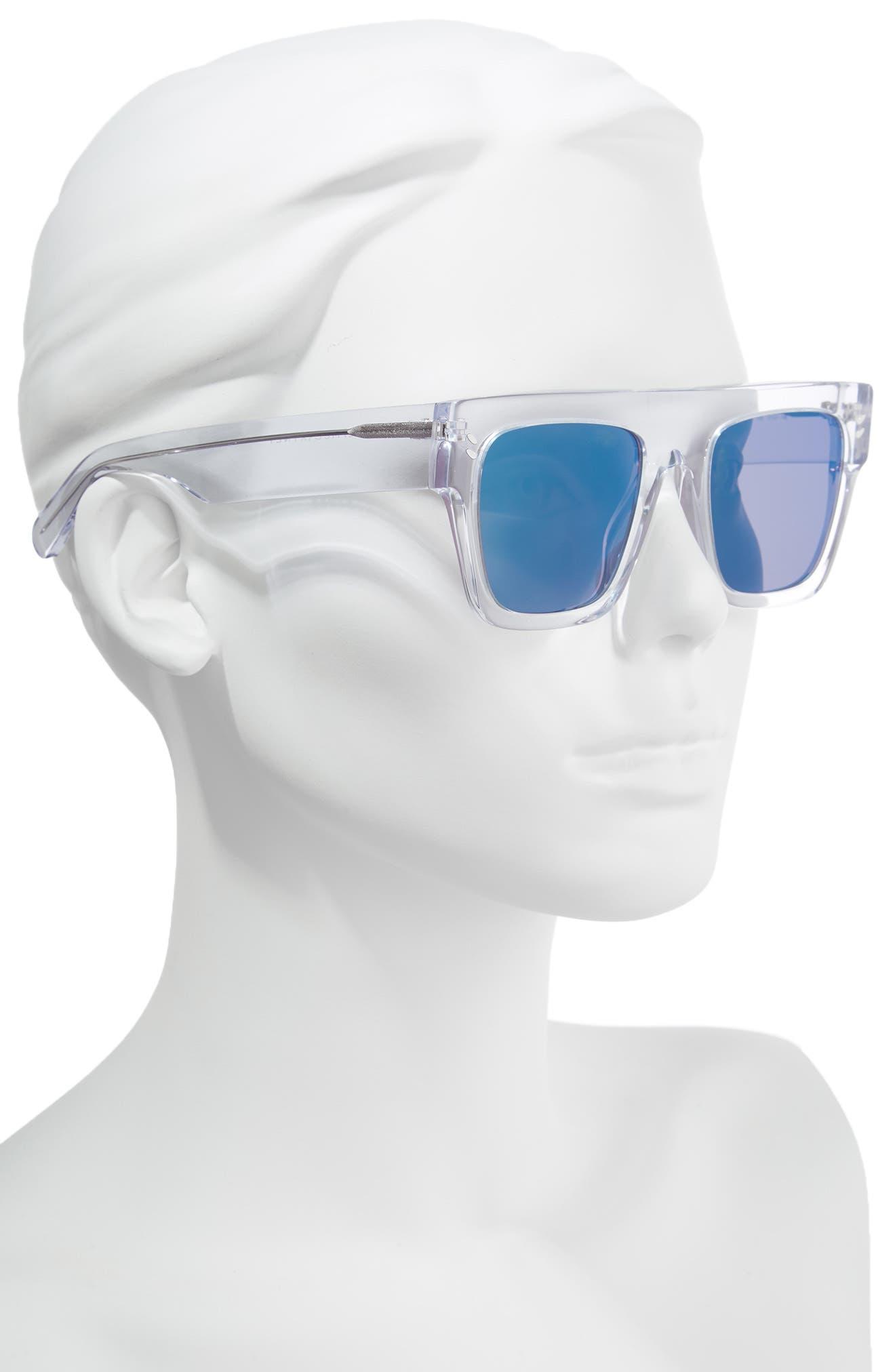 51mm Flattop Sunglasses,                             Alternate thumbnail 2, color,                             Crystal