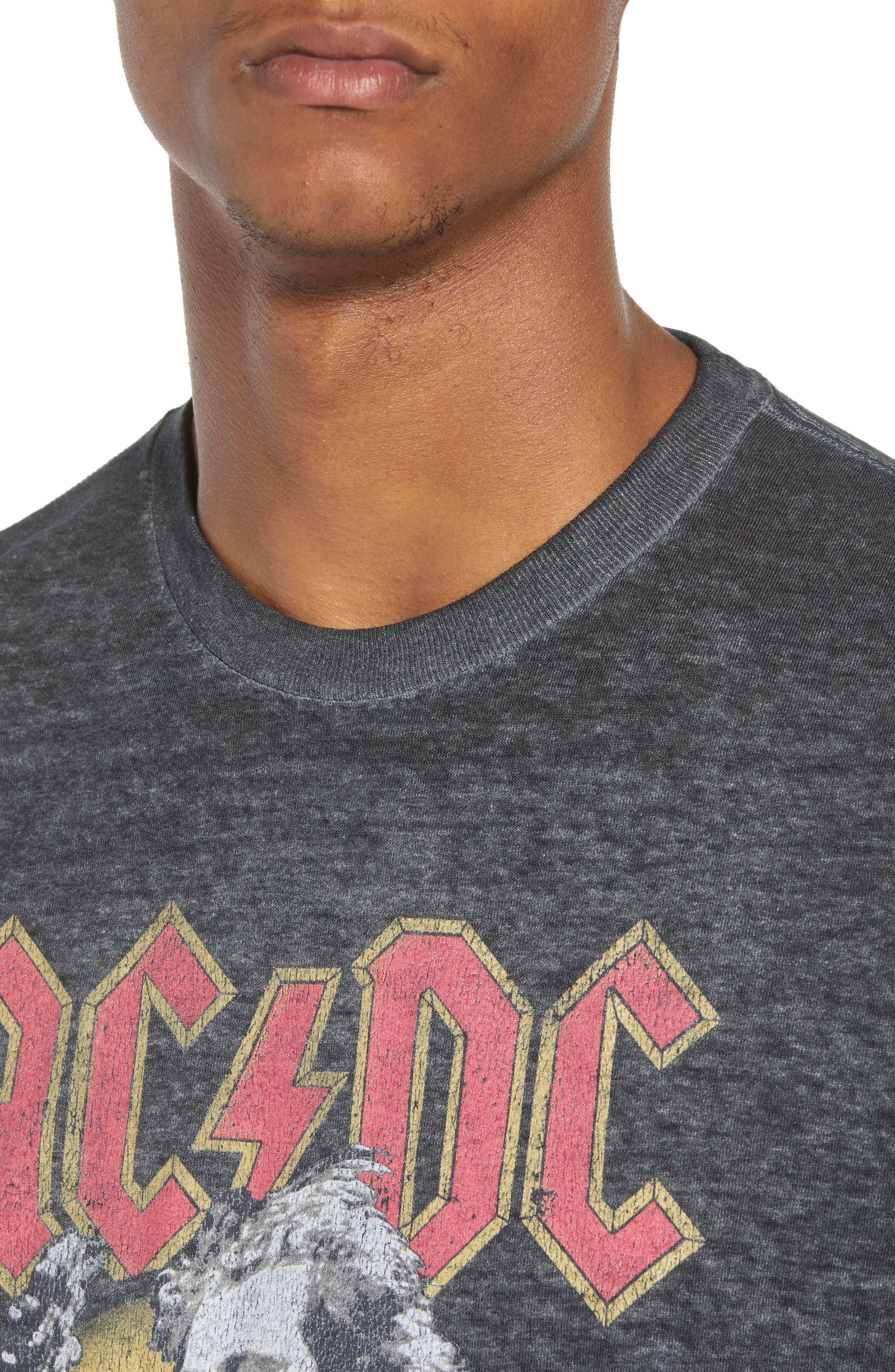 AC/DC Live at The Donington T-Shirt,                             Alternate thumbnail 4, color,                             Grey Acdc Burnout