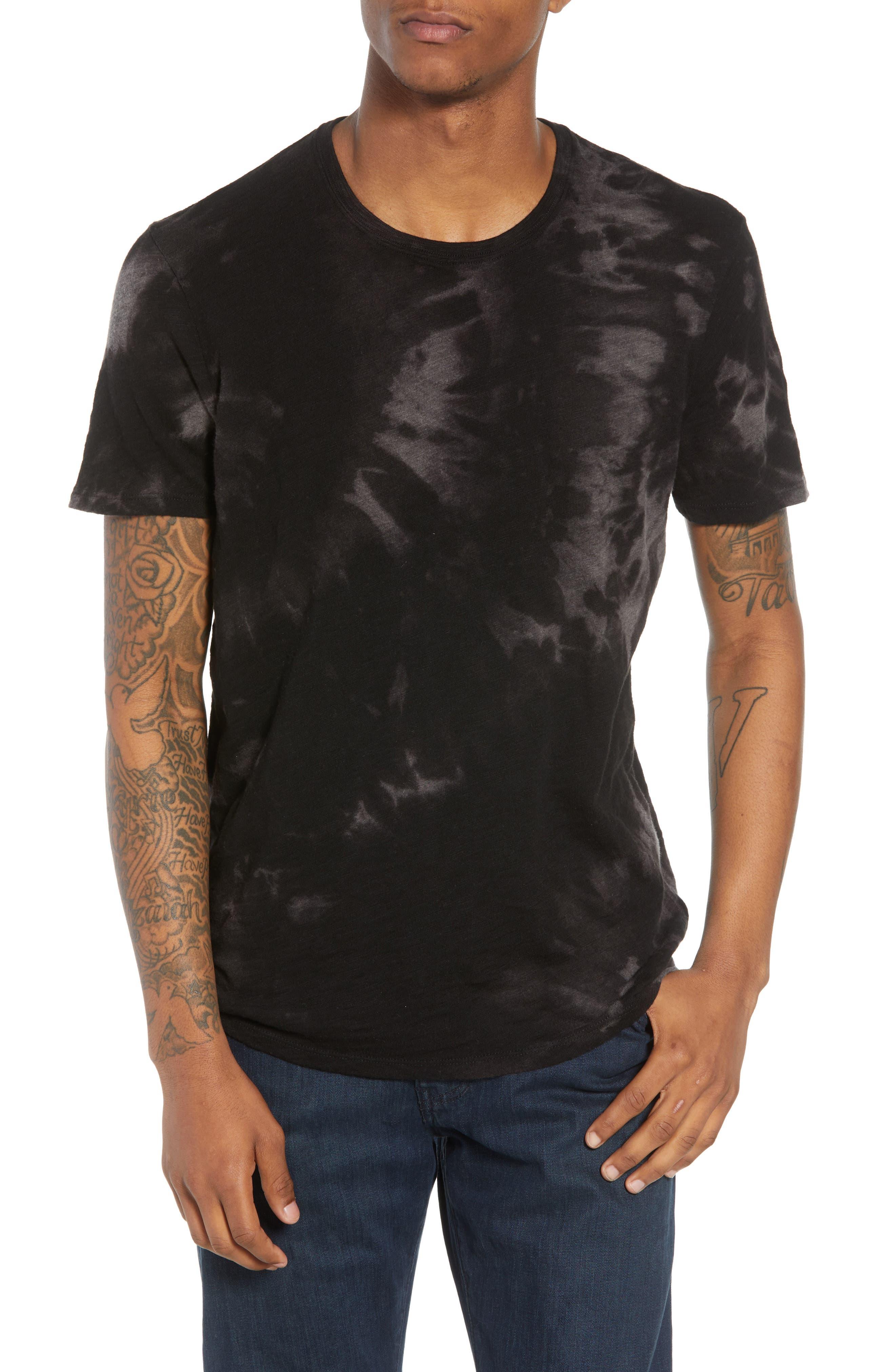Slub Tie Dye T-Shirt,                             Main thumbnail 1, color,                             Black