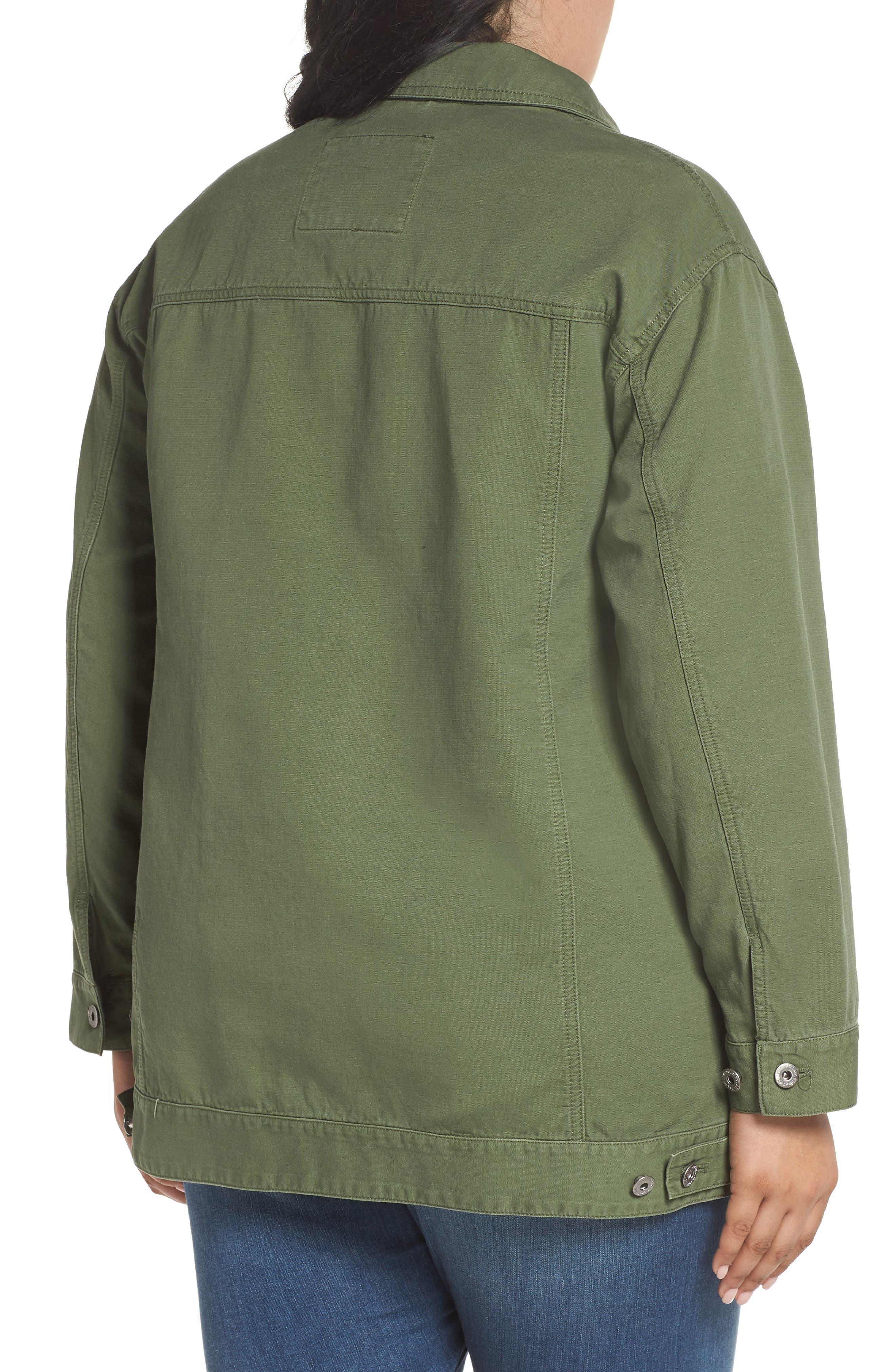 Alternate Image 2  - Levi's® Oversize Cotton Canvas Trucker Jacket (Plus Size)