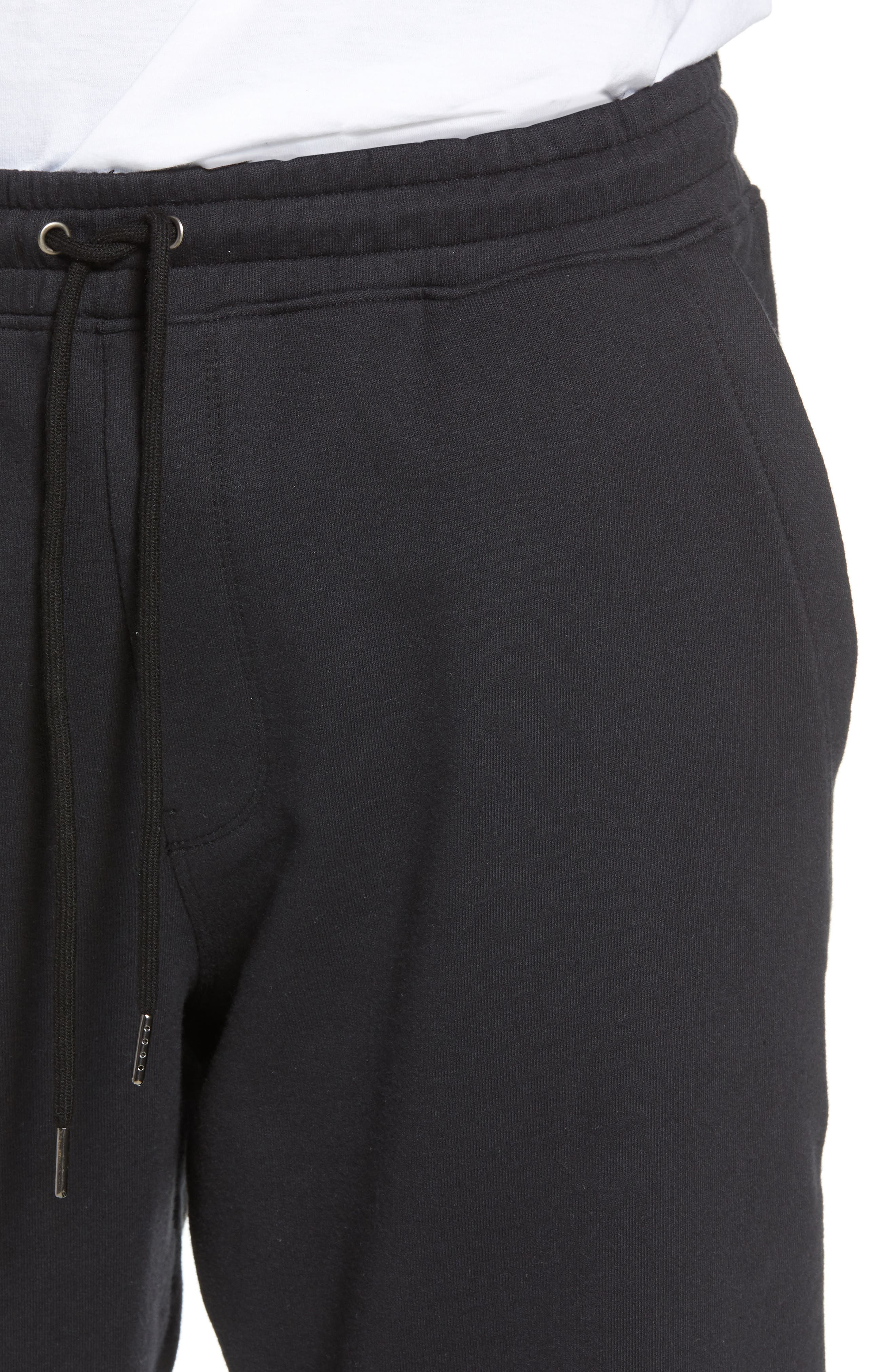Cropped Sweatpants,                             Alternate thumbnail 4, color,                             Black Rock