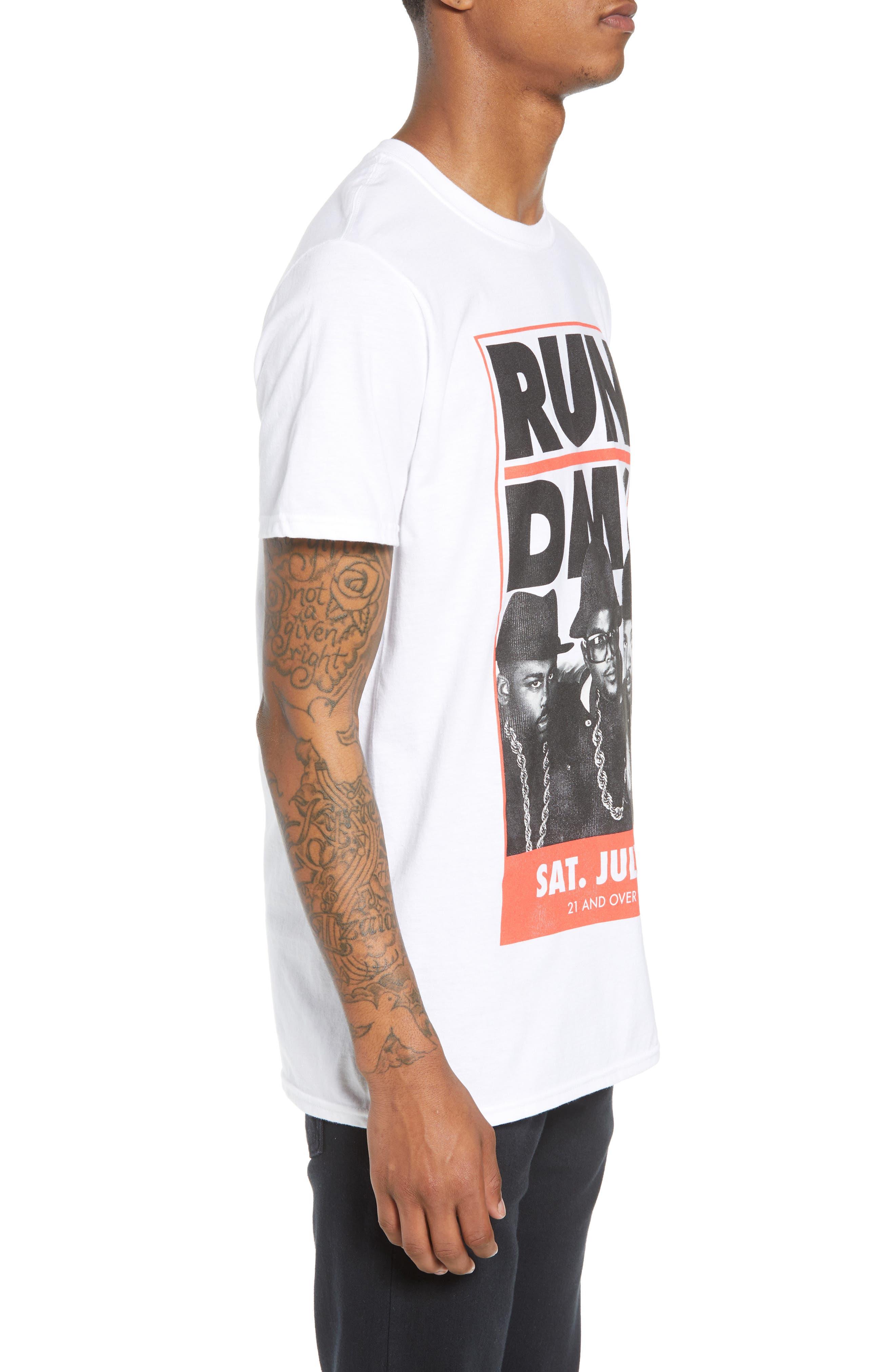 Run-DMC T-Shirt,                             Alternate thumbnail 3, color,                             White Tee Run Dmc