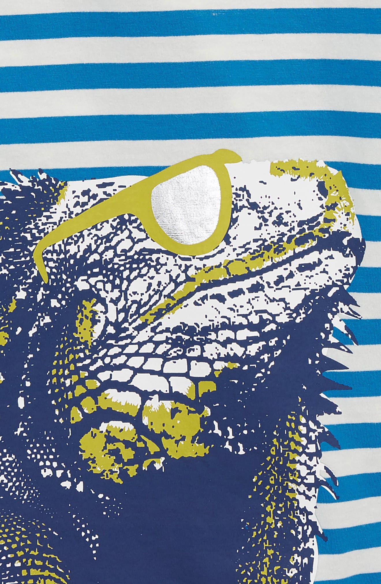 Arty Iguana T-Shirt,                             Alternate thumbnail 2, color,                             Yogo Blue/ Ecru Iguana