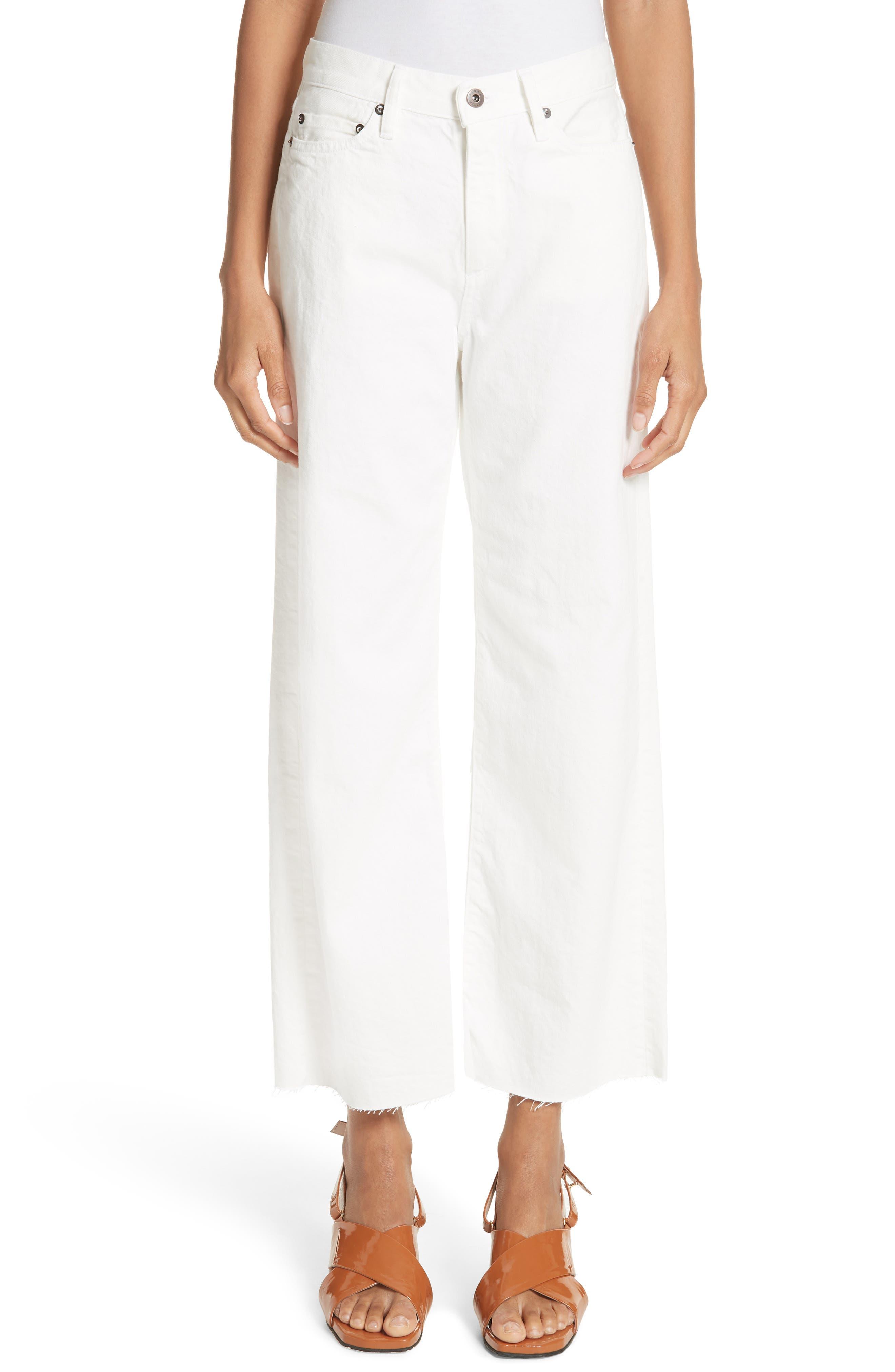Lamere Wide Leg Crop Jeans,                             Main thumbnail 1, color,                             White
