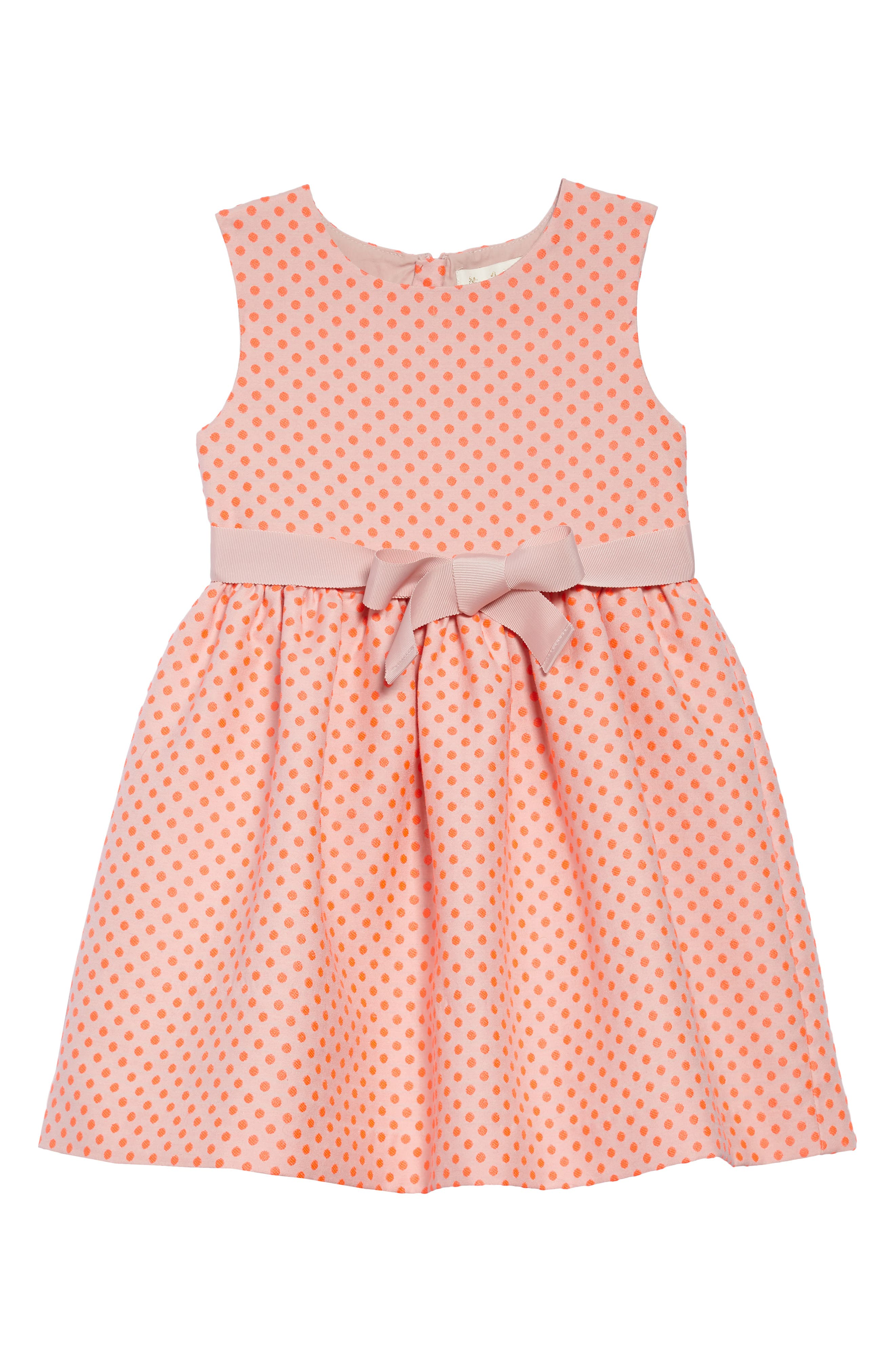 Dot Sleeveless Dress,                             Main thumbnail 1, color,                             Pnkbright Flamingo Pink Spot