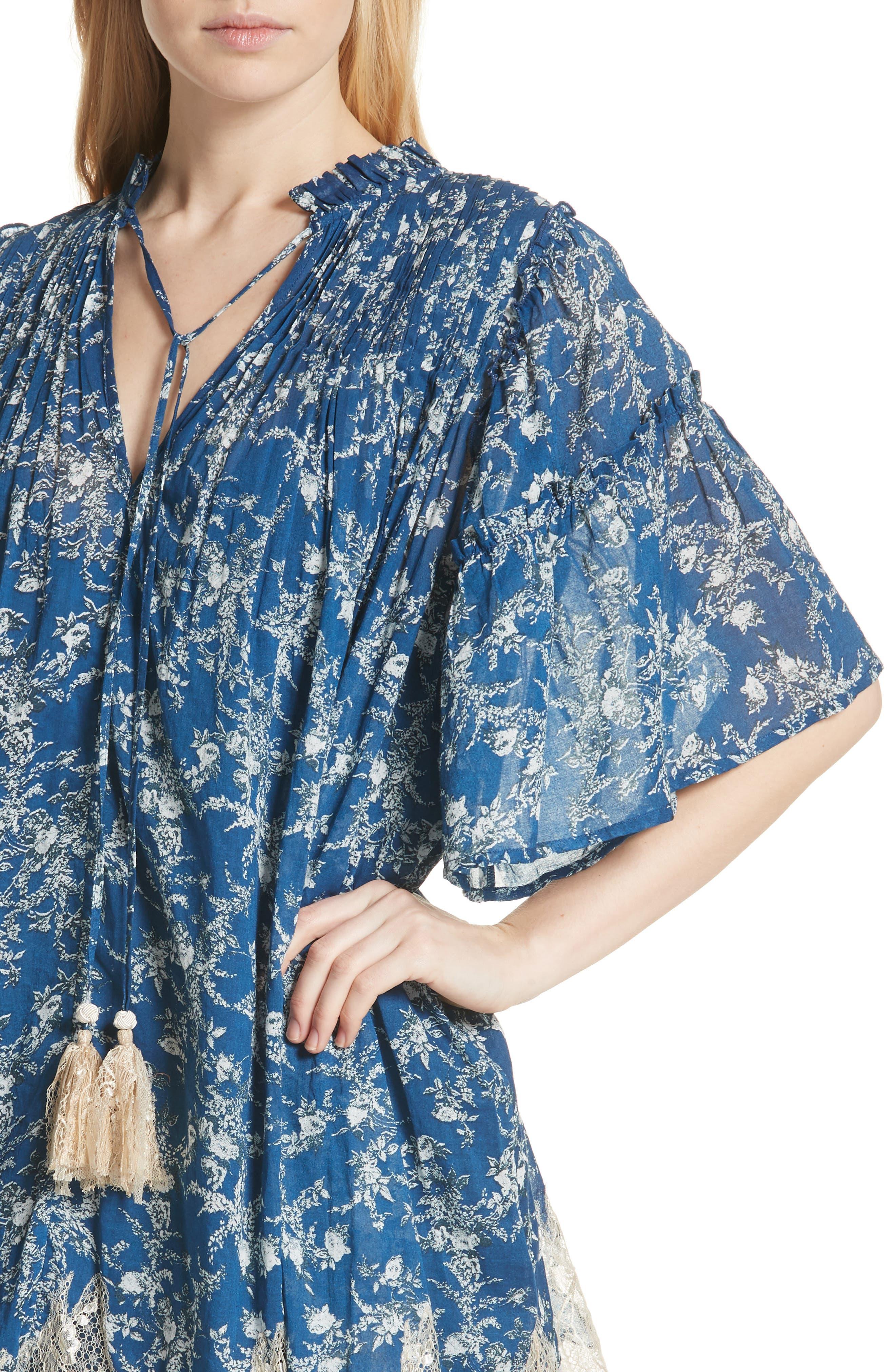 Marigold Minidress,                             Alternate thumbnail 4, color,                             Navy