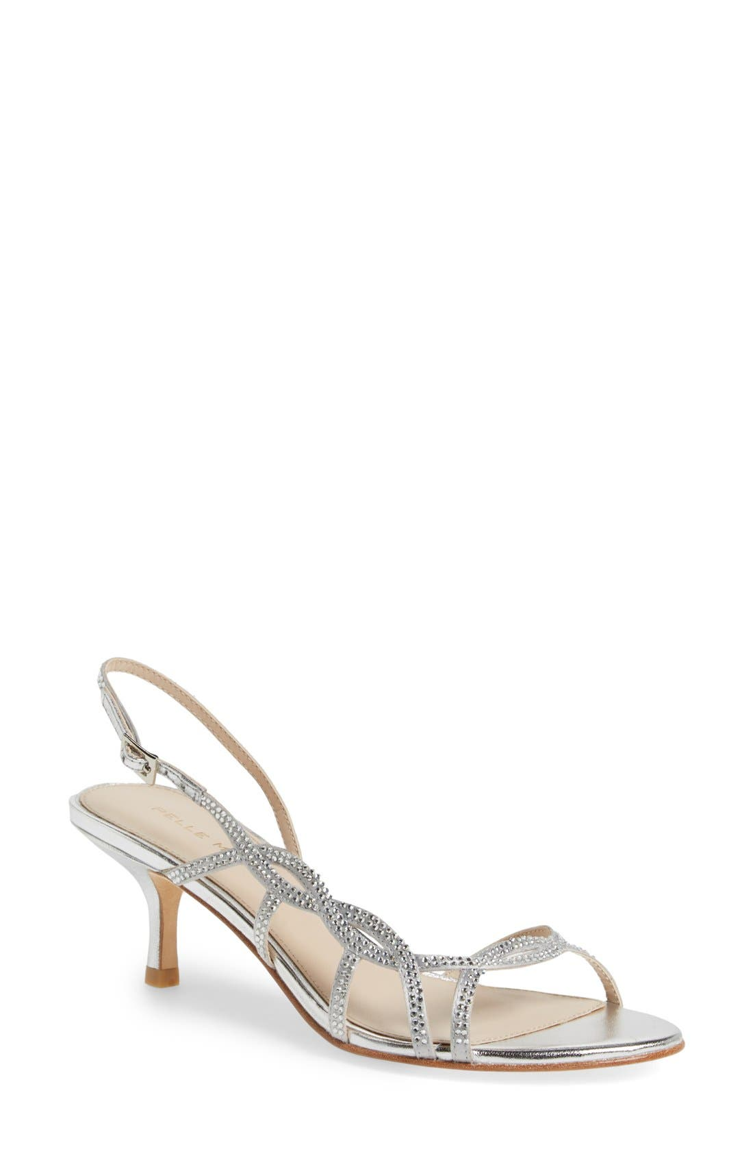 Alternate Image 1 Selected - Pelle Moda 'Amina' Metallic Slingback Sandal (Women)