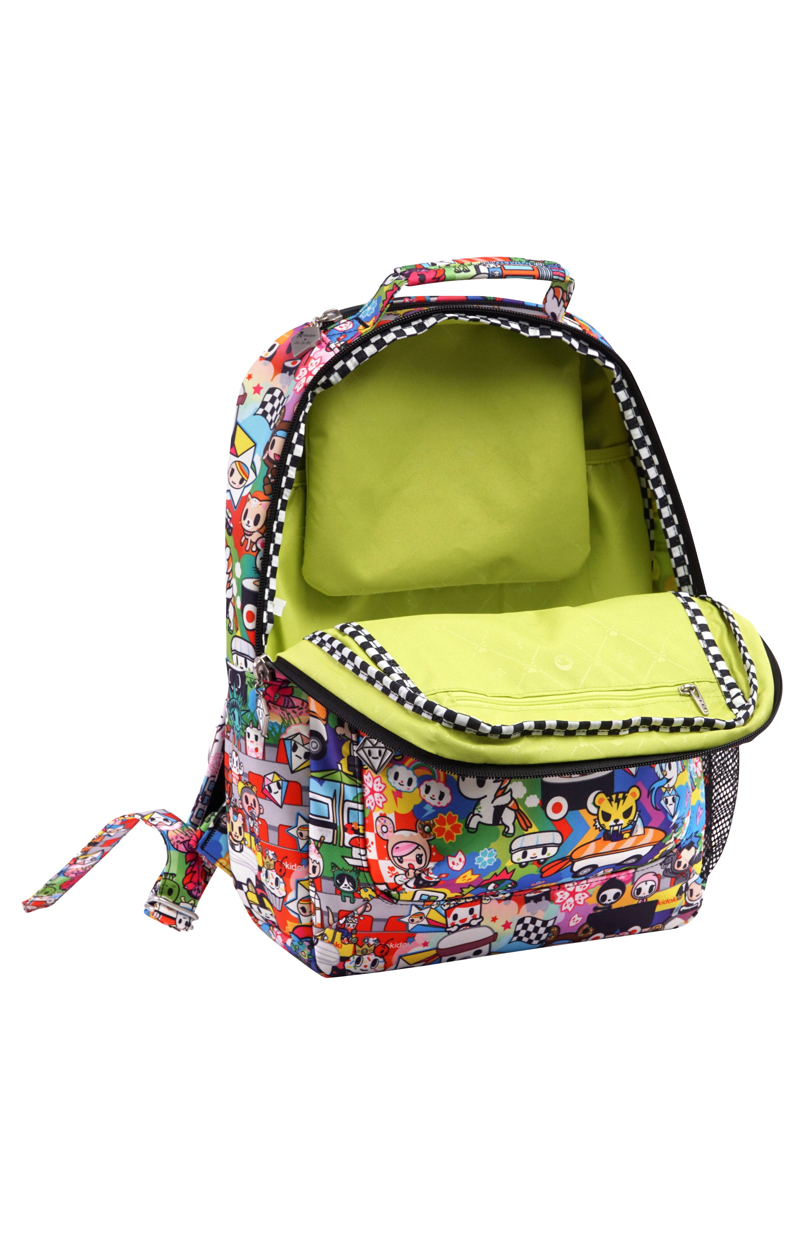 x tokidoki Be Packed Diaper Backpack,                             Alternate thumbnail 4, color,                             Sushi Cars