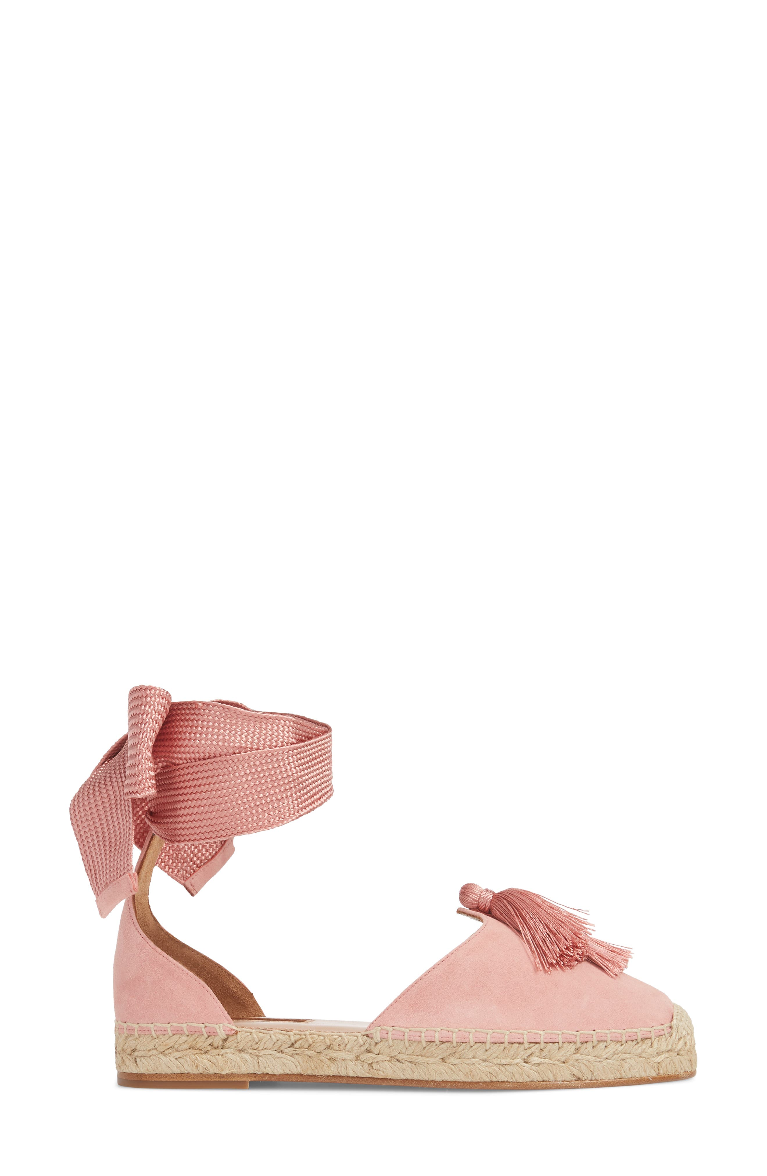 Love Tassel Espadrille Flat,                             Alternate thumbnail 3, color,                             Jaipur Pink